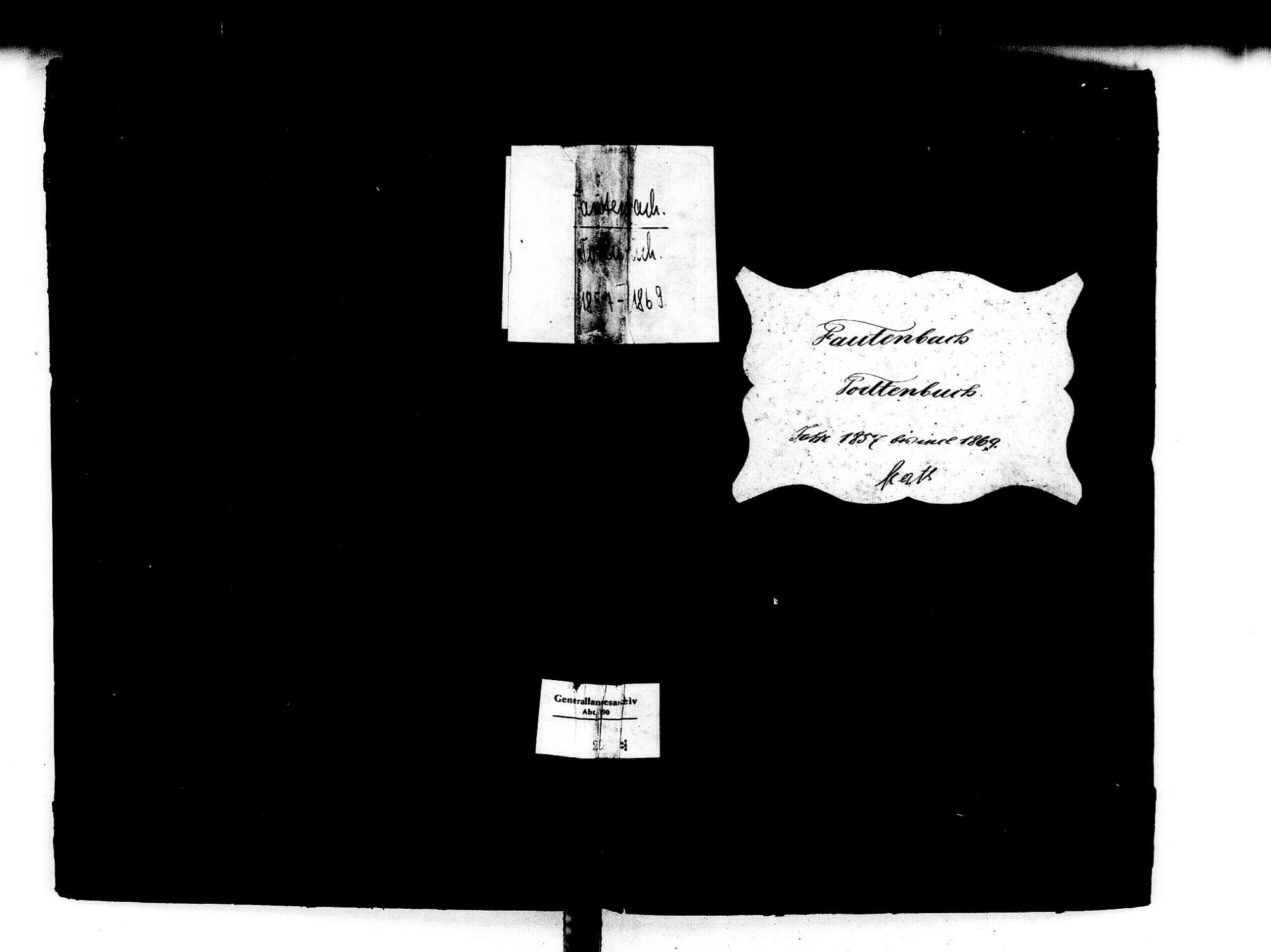 Fautenbach, Achern OG; Katholische Gemeinde: Sterbebuch 1857-1869, Bild 1