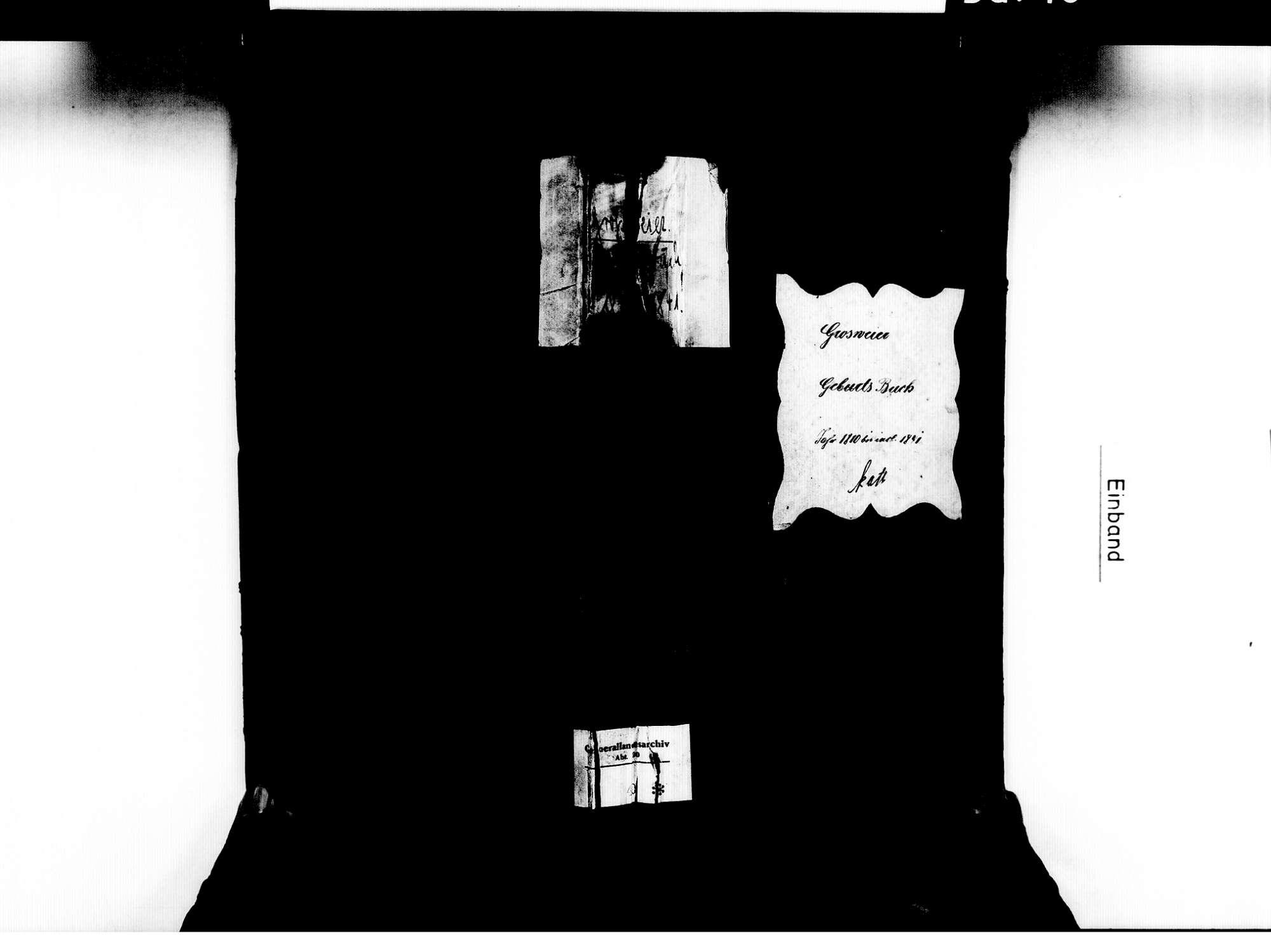 Großweier, Achern OG; Katholische Gemeinde: Geburtenbuch 1810-1841, Bild 2
