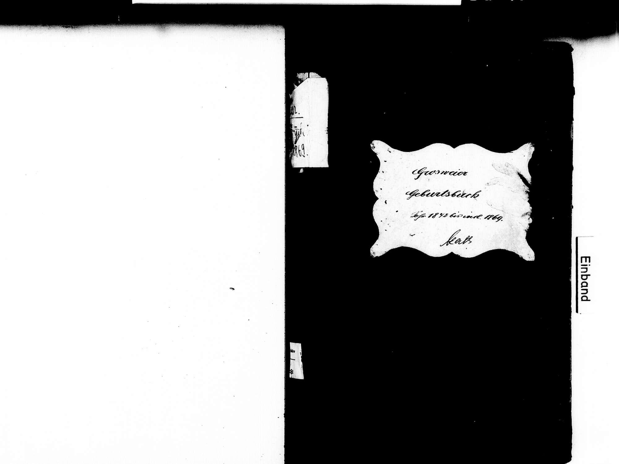 Großweier, Achern OG; Katholische Gemeinde: Geburtenbuch 1842-1869, Bild 2