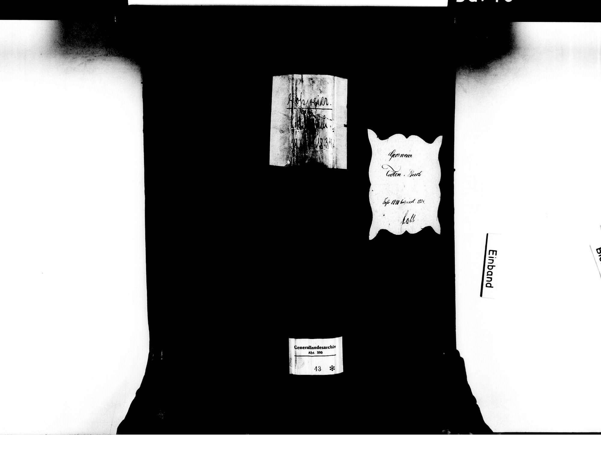 Großweier, Achern OG; Katholische Gemeinde: Sterbebuch 1810-1834, Bild 2