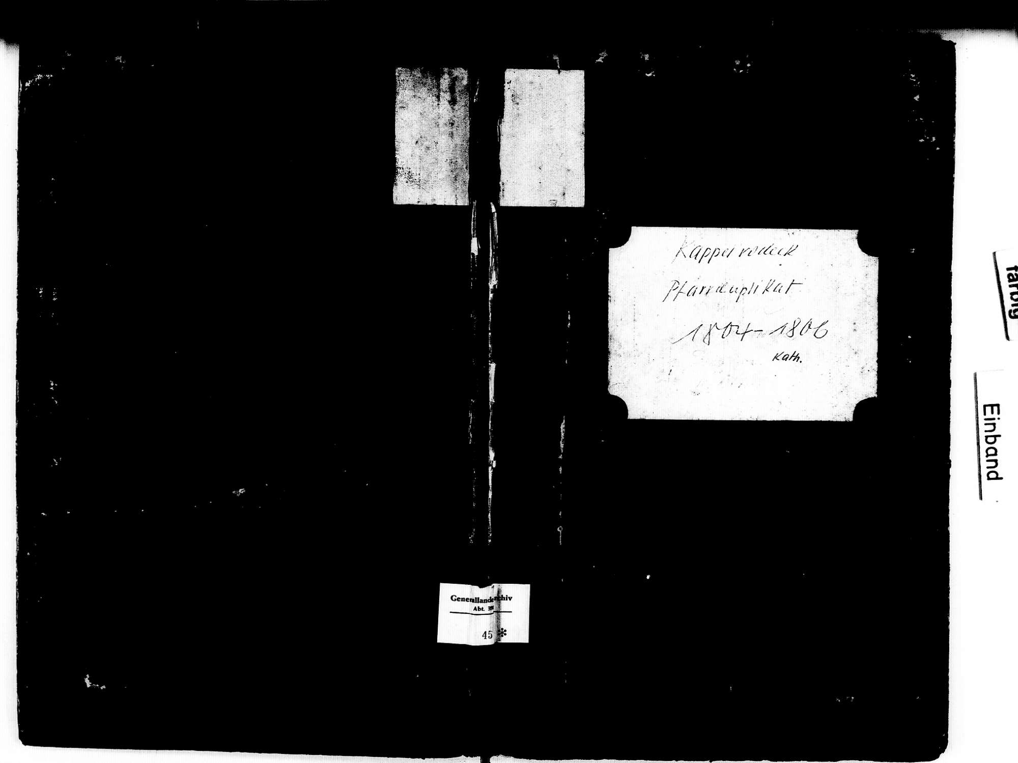 Kappelrodeck OG; Katholische Gemeinde: Geburtenbuch 1804-1806, Bild 1