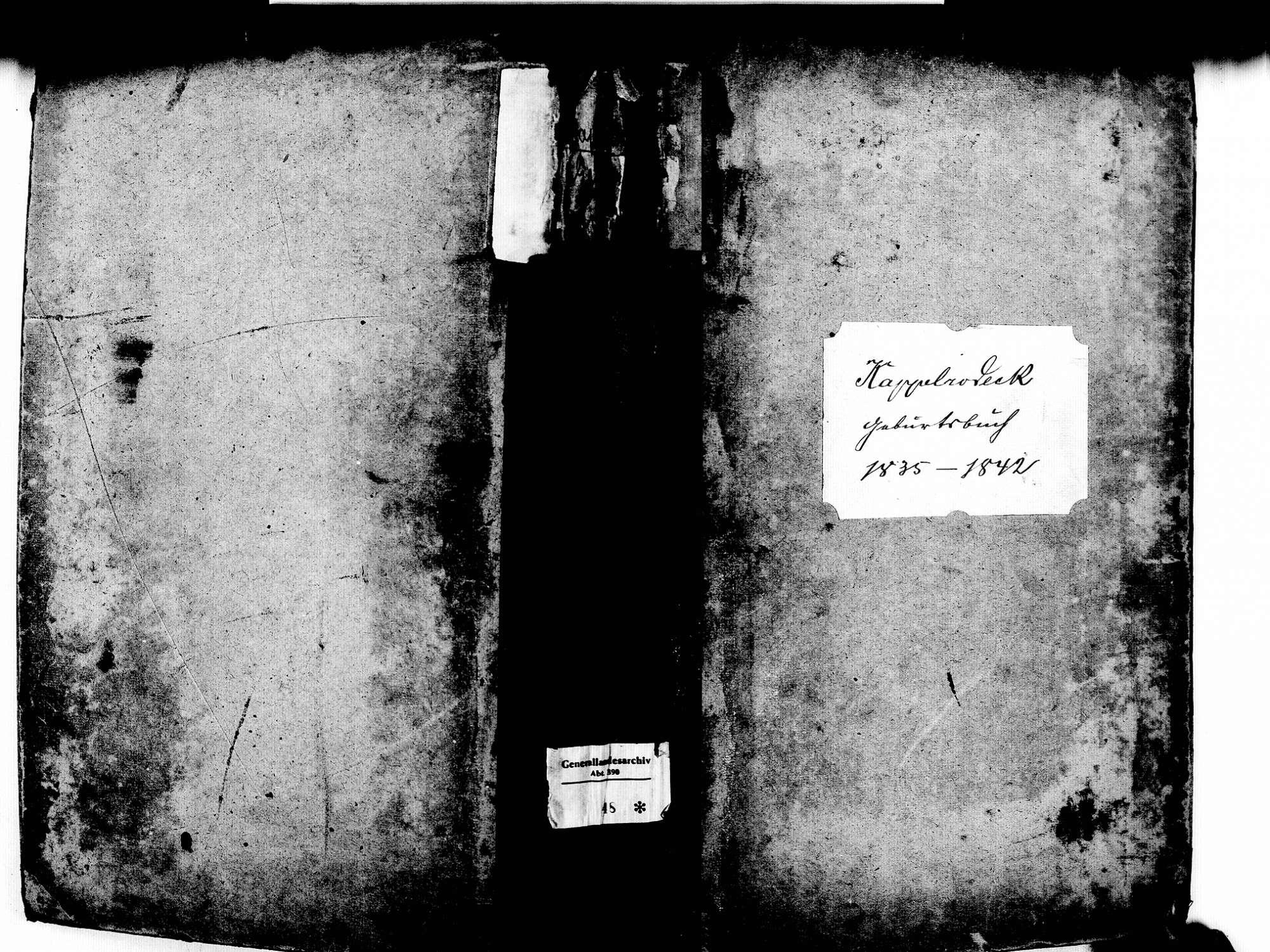 Kappelrodeck OG; Katholische Gemeinde: Geburtenbuch 1835-1842, Bild 1