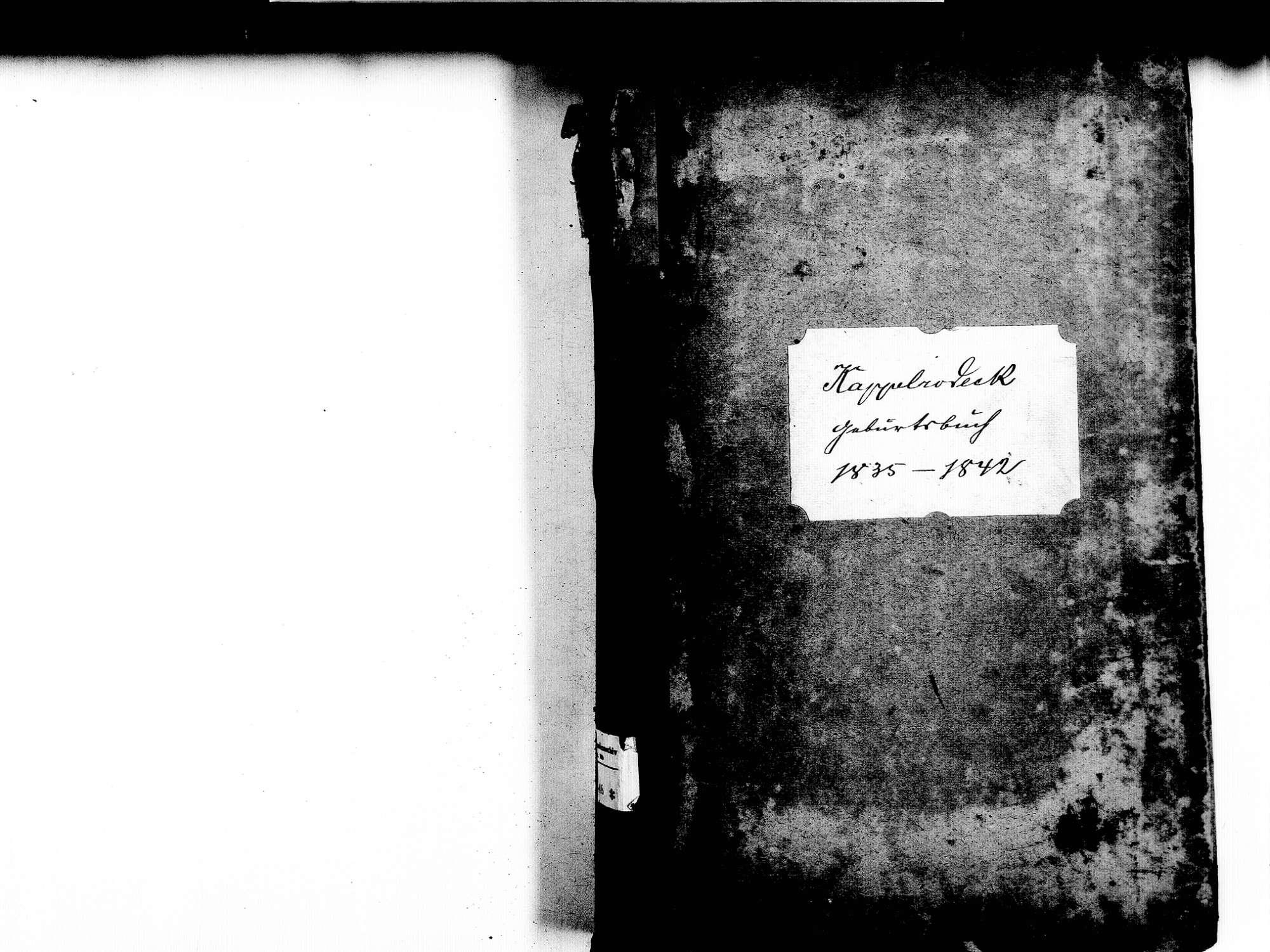 Kappelrodeck OG; Katholische Gemeinde: Geburtenbuch 1835-1842, Bild 2