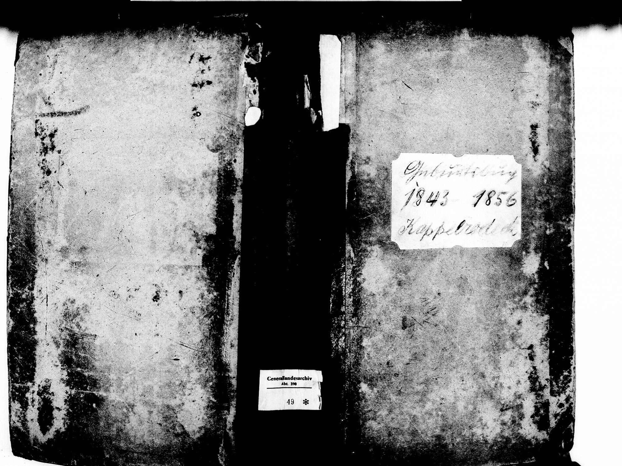 Kappelrodeck OG; Katholische Gemeinde: Geburtenbuch 1843-1856, Bild 1