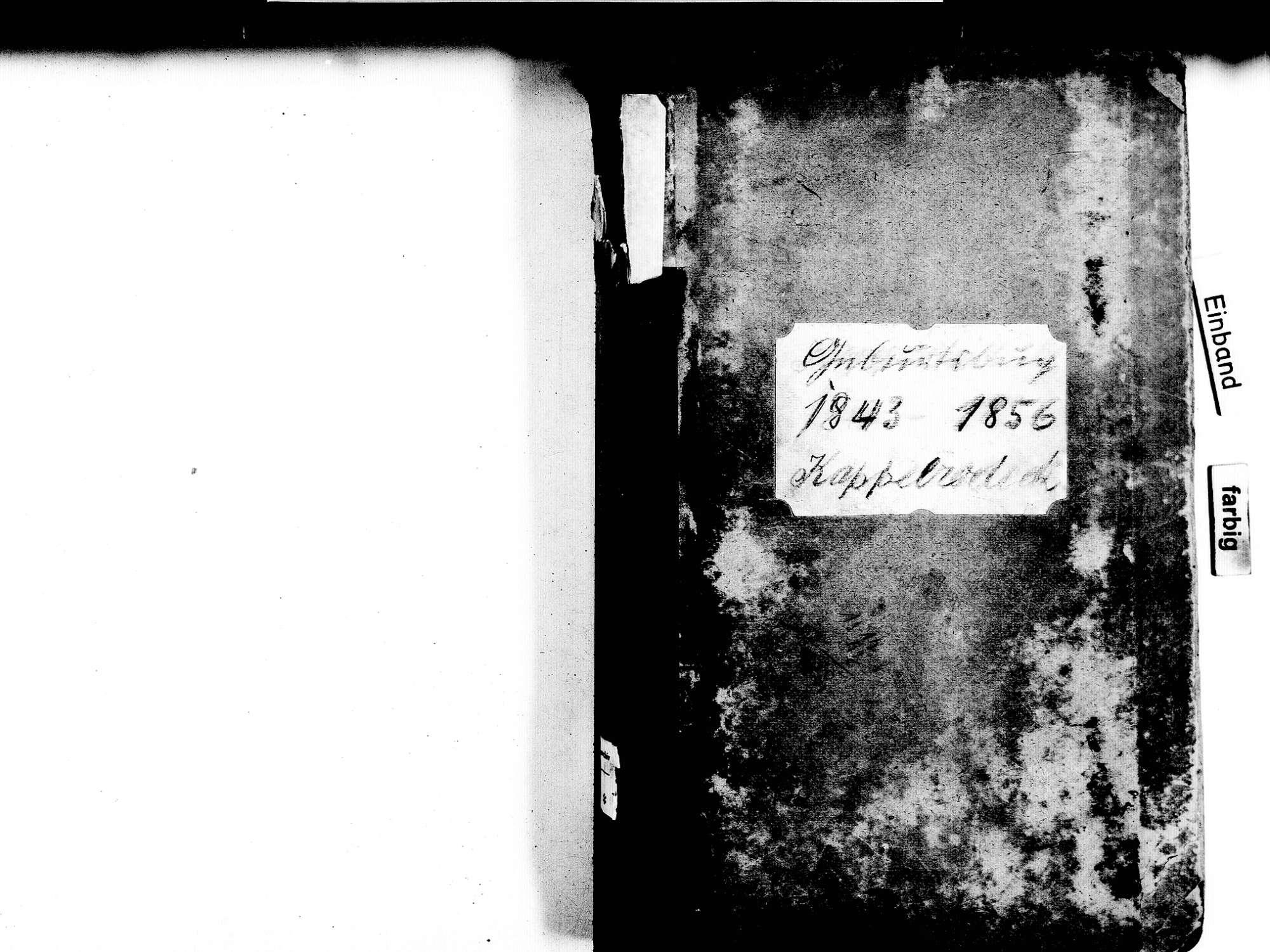 Kappelrodeck OG; Katholische Gemeinde: Geburtenbuch 1843-1856, Bild 2