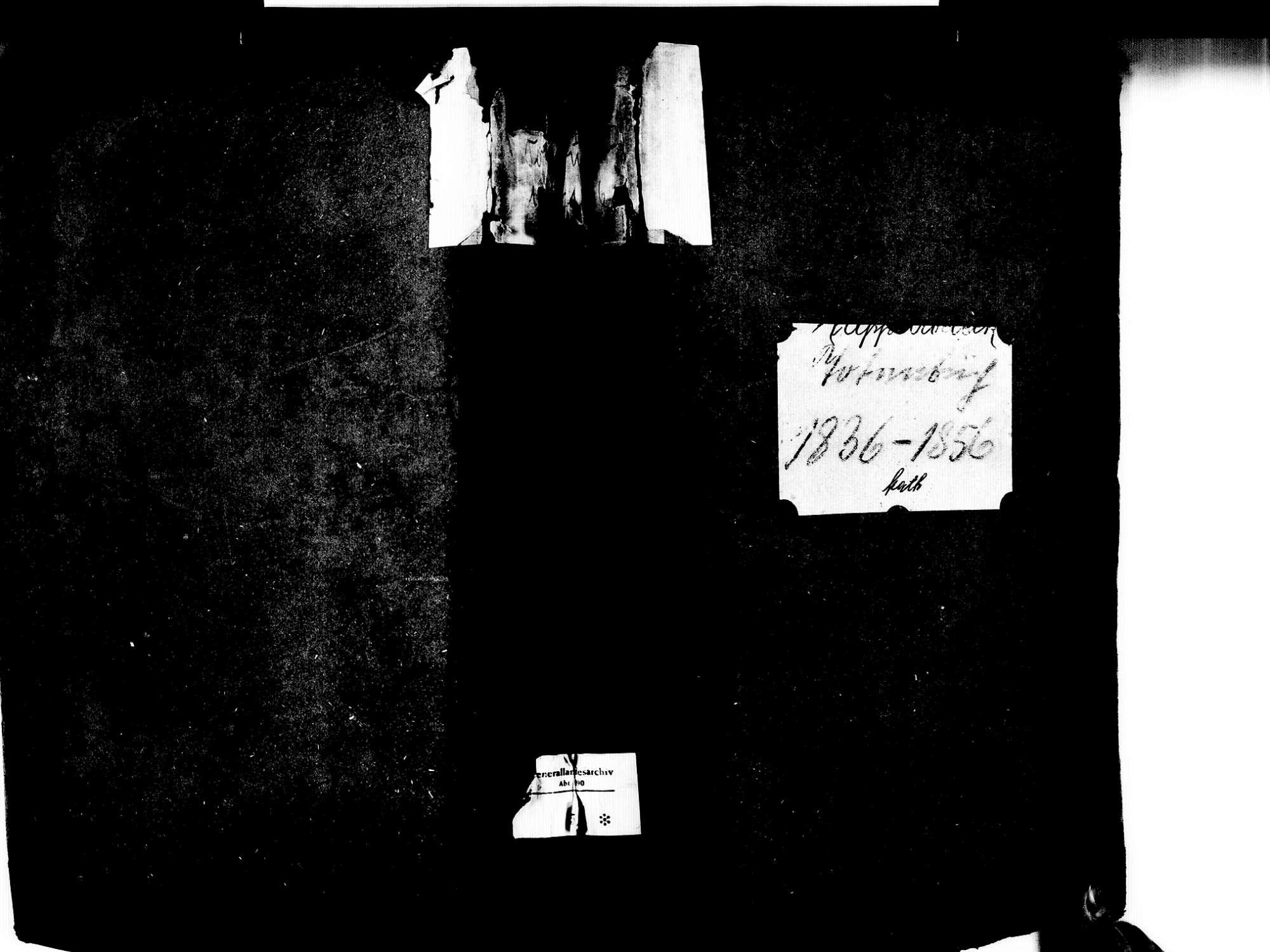 Kappelrodeck OG; Katholische Gemeinde: Sterbebuch 1836-1856, Bild 1