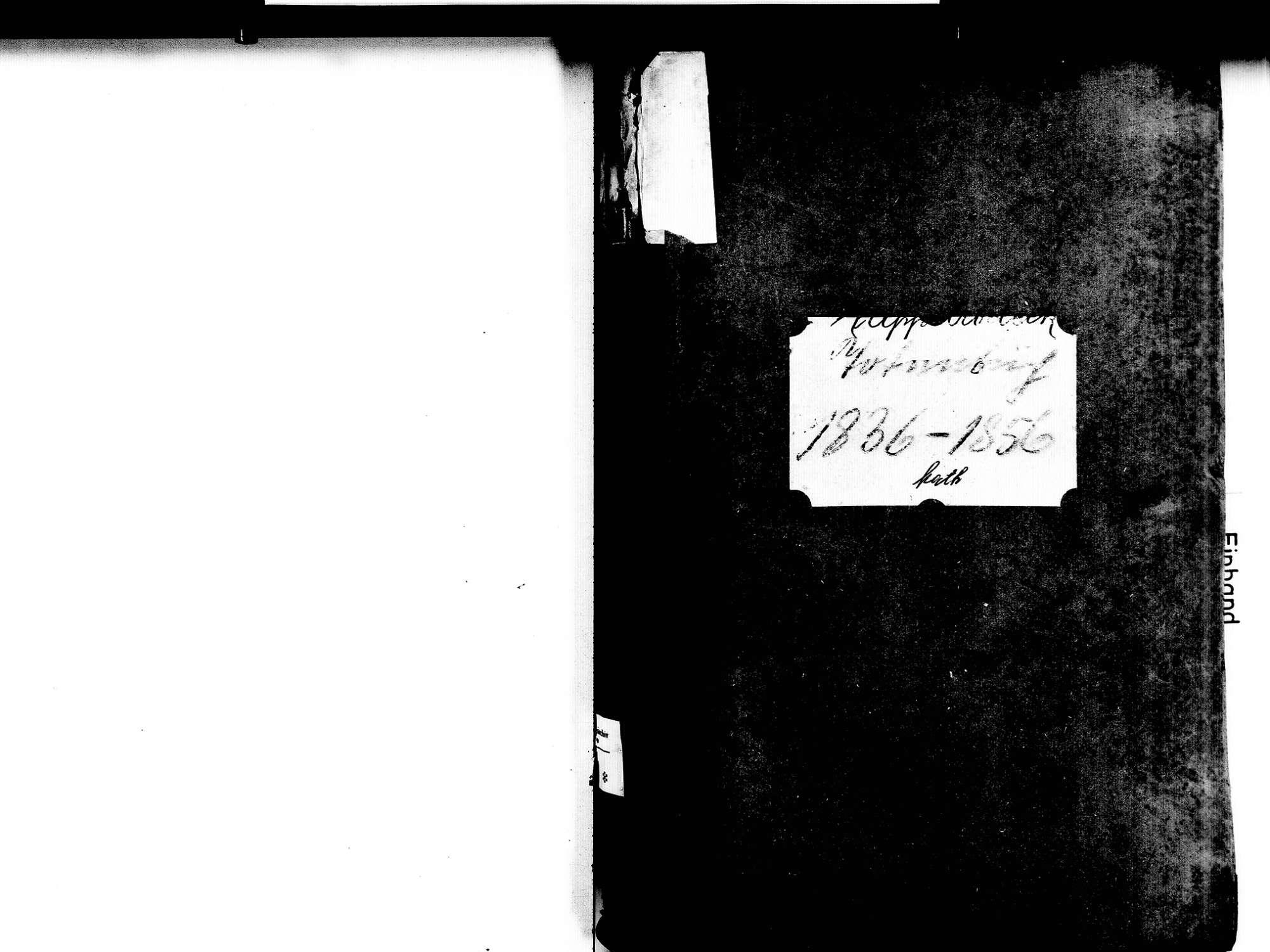 Kappelrodeck OG; Katholische Gemeinde: Sterbebuch 1836-1856, Bild 2