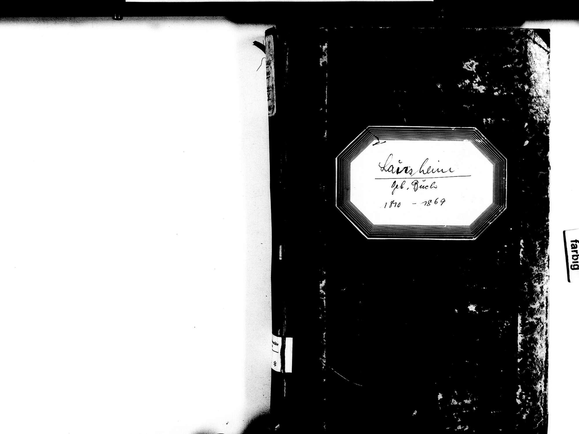 Lausheim, Stühlingen WT; Katholische Gemeinde: Geburtenbuch 1810-1869, Bild 2