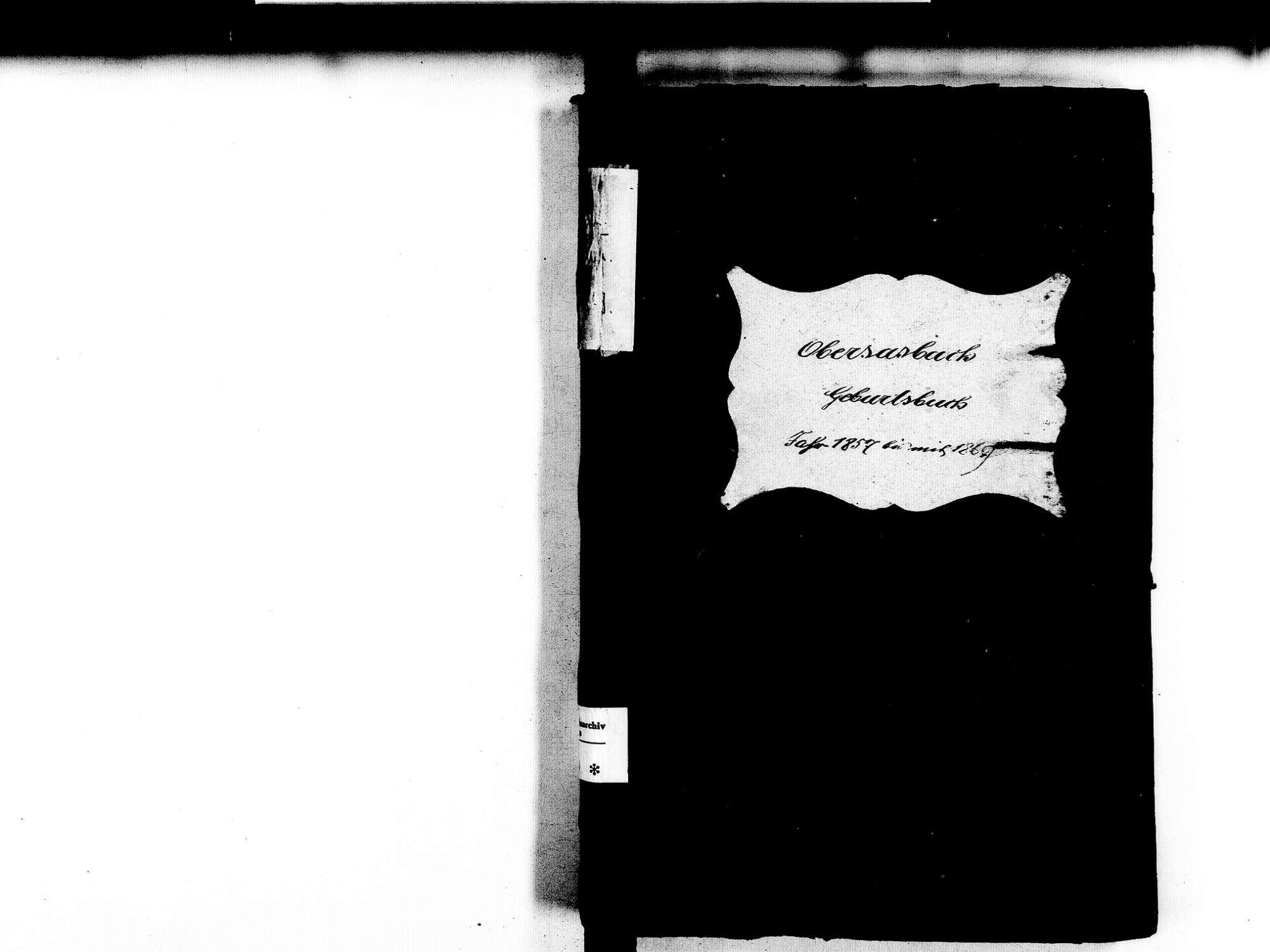Obersasbach, Sasbach OG; Katholische Gemeinde: Geburtenbuch 1857-1869, Bild 1