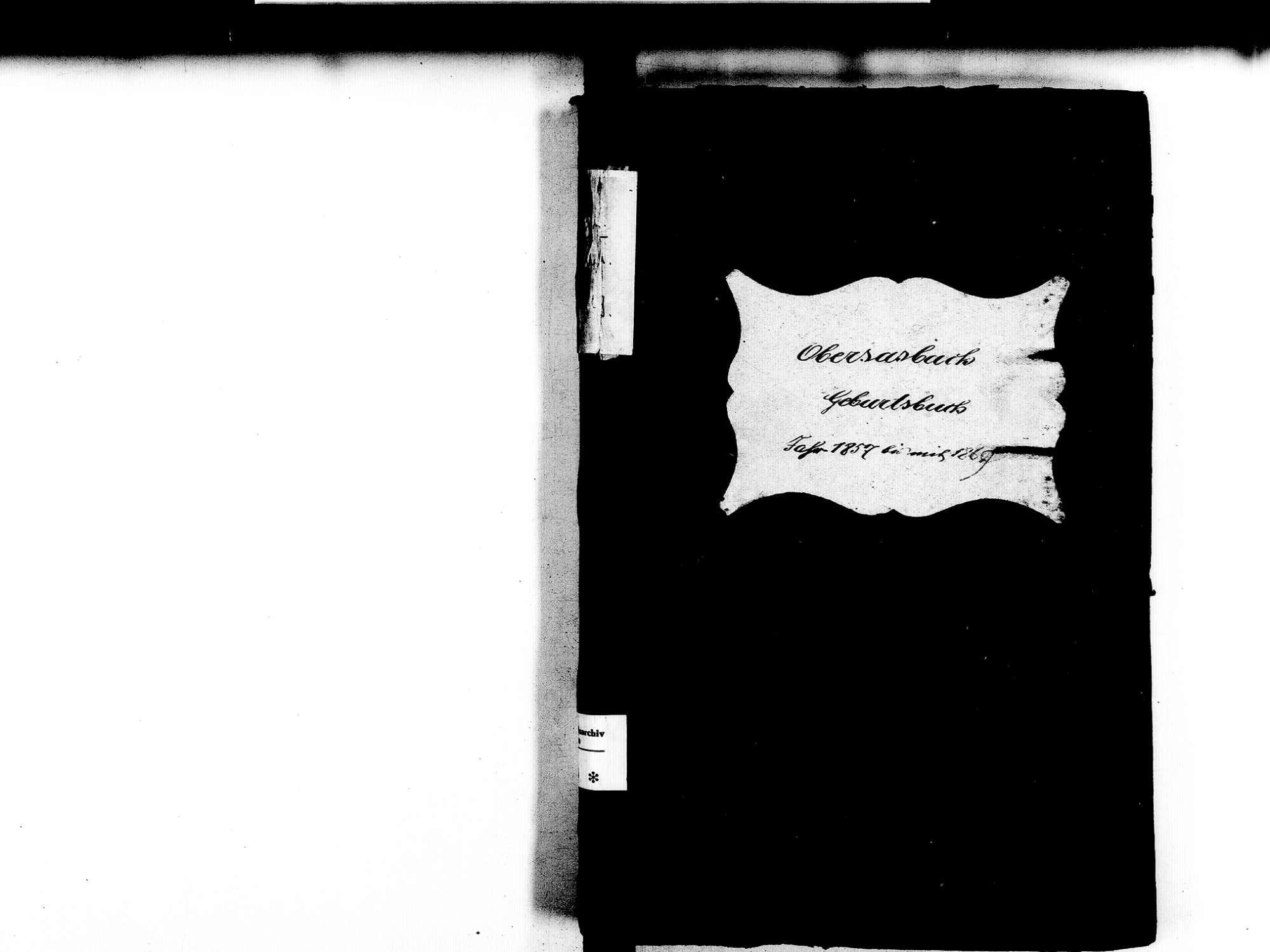 Obersasbach, Sasbach OG; Katholische Gemeinde: Geburtenbuch 1857-1869, Bild 2