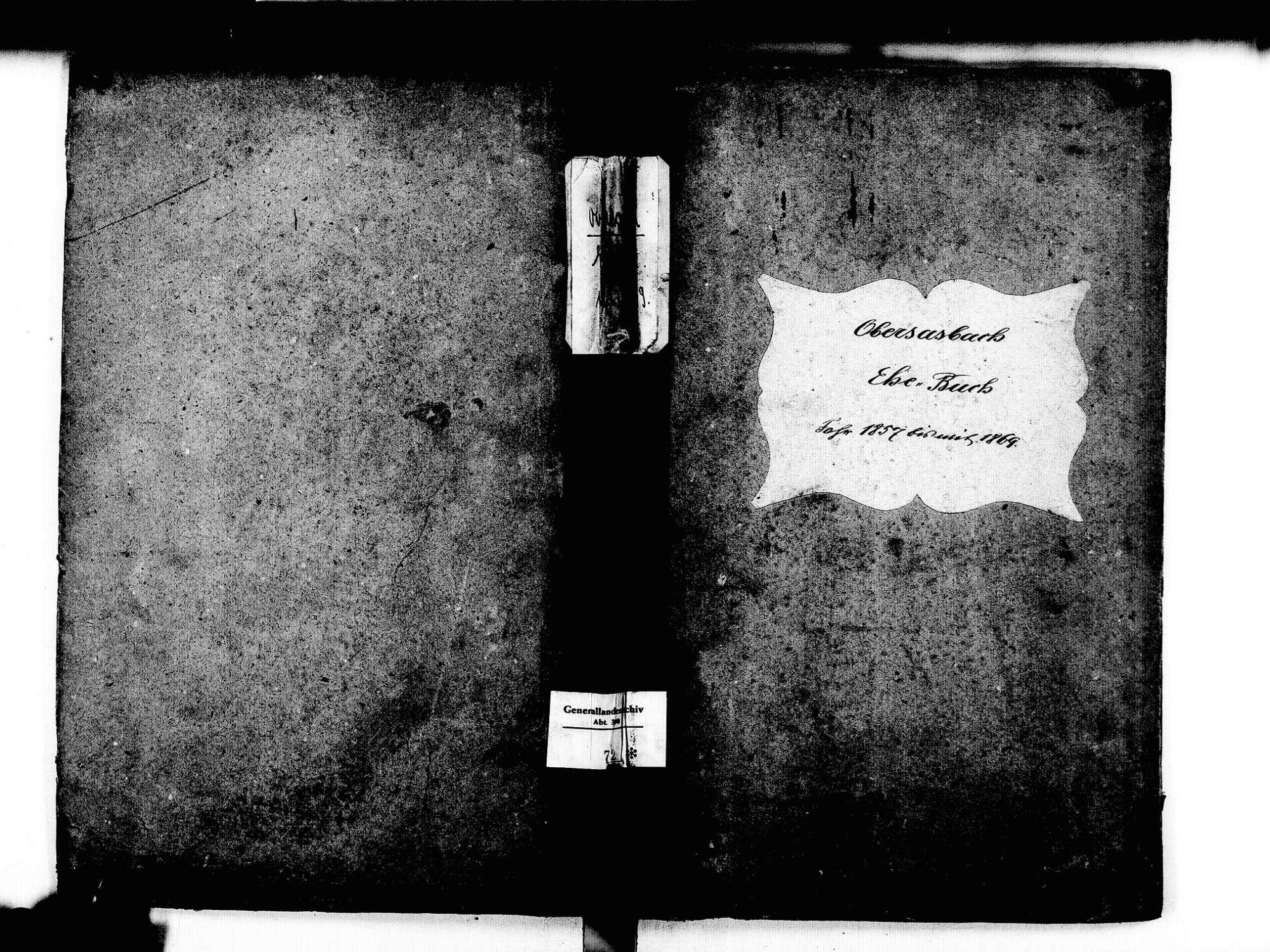 Obersasbach, Sasbach OG; Katholische Gemeinde: Heinratsbuch 1857-1869, Bild 2
