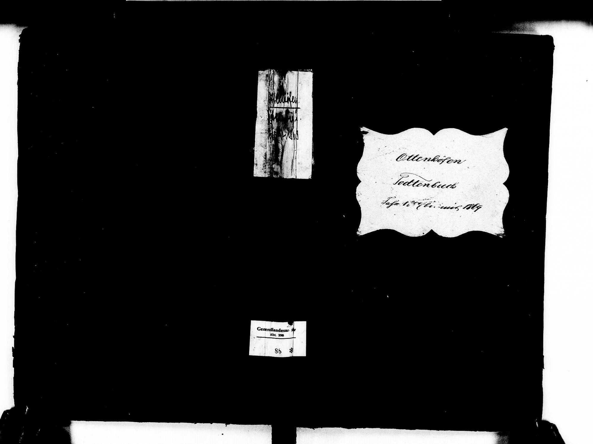 Ottenhöfen im Schwarzwald OG; Katholische Gemeinde: Sterbebuch 1857-1869, Bild 1