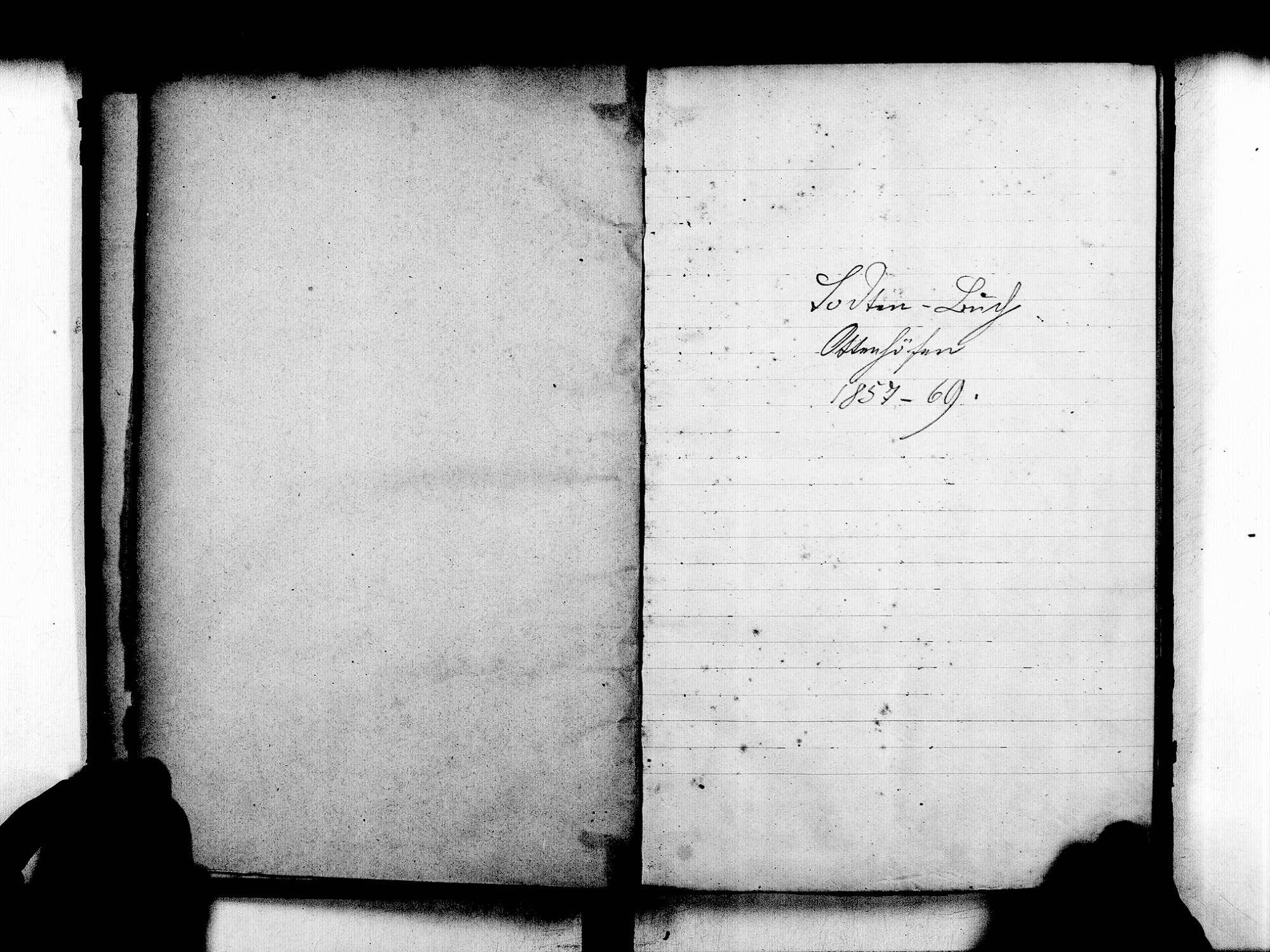 Ottenhöfen im Schwarzwald OG; Katholische Gemeinde: Sterbebuch 1857-1869, Bild 3