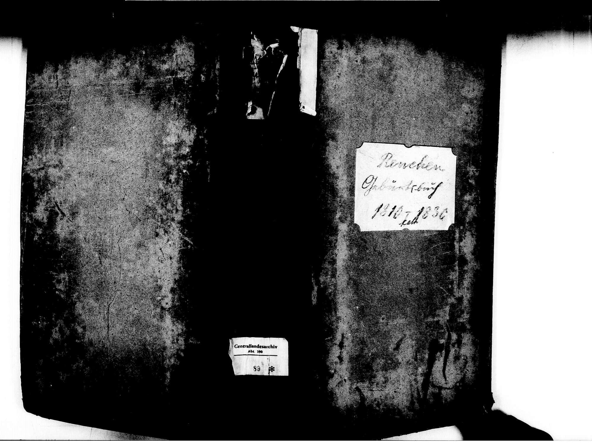 Renchen OG; Katholische Gemeinde: Geburtenbuch 1810-1830, Bild 1