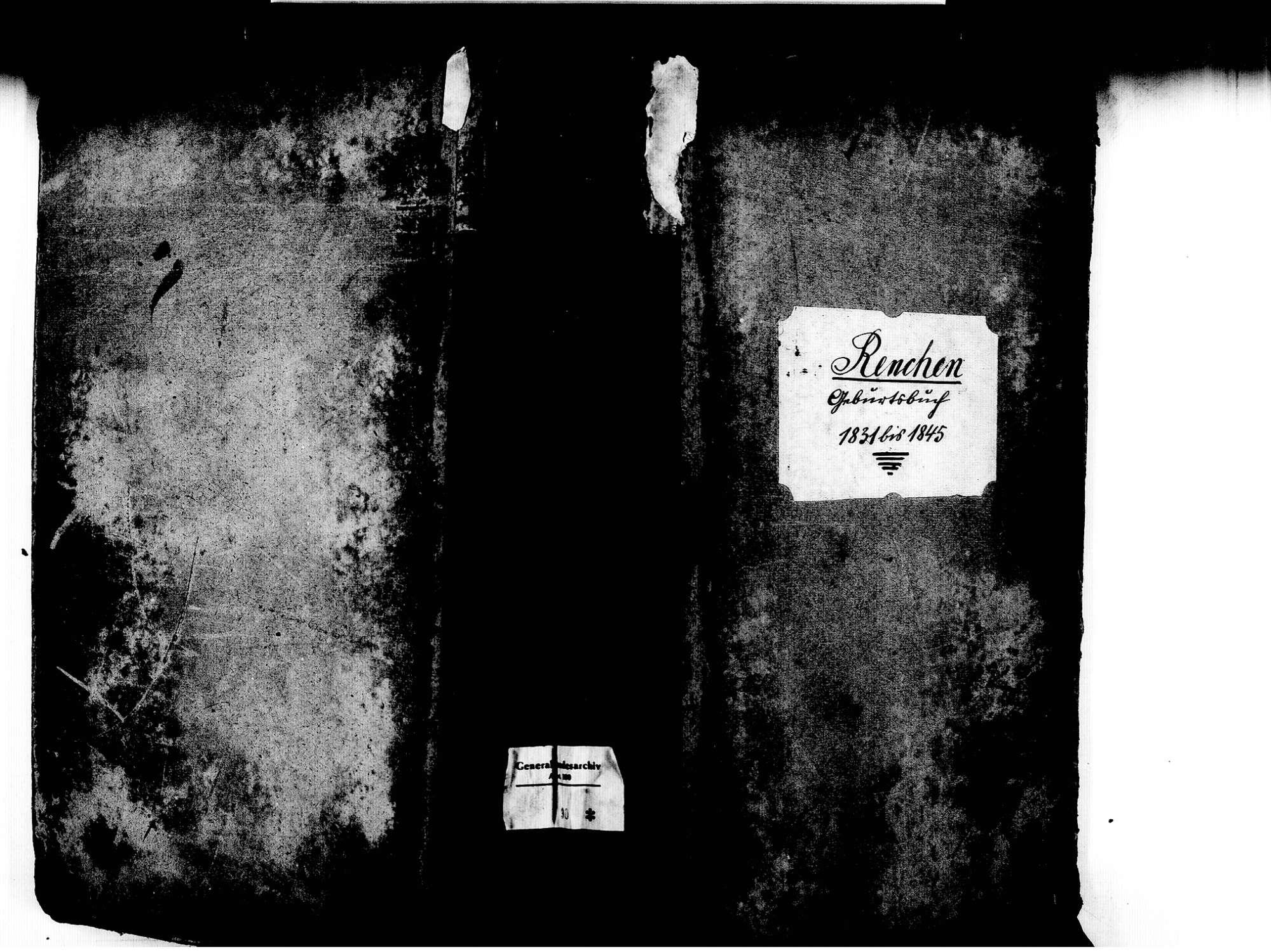 Renchen OG; Katholische Gemeinde: Geburtenbuch 1831-1845, Bild 1