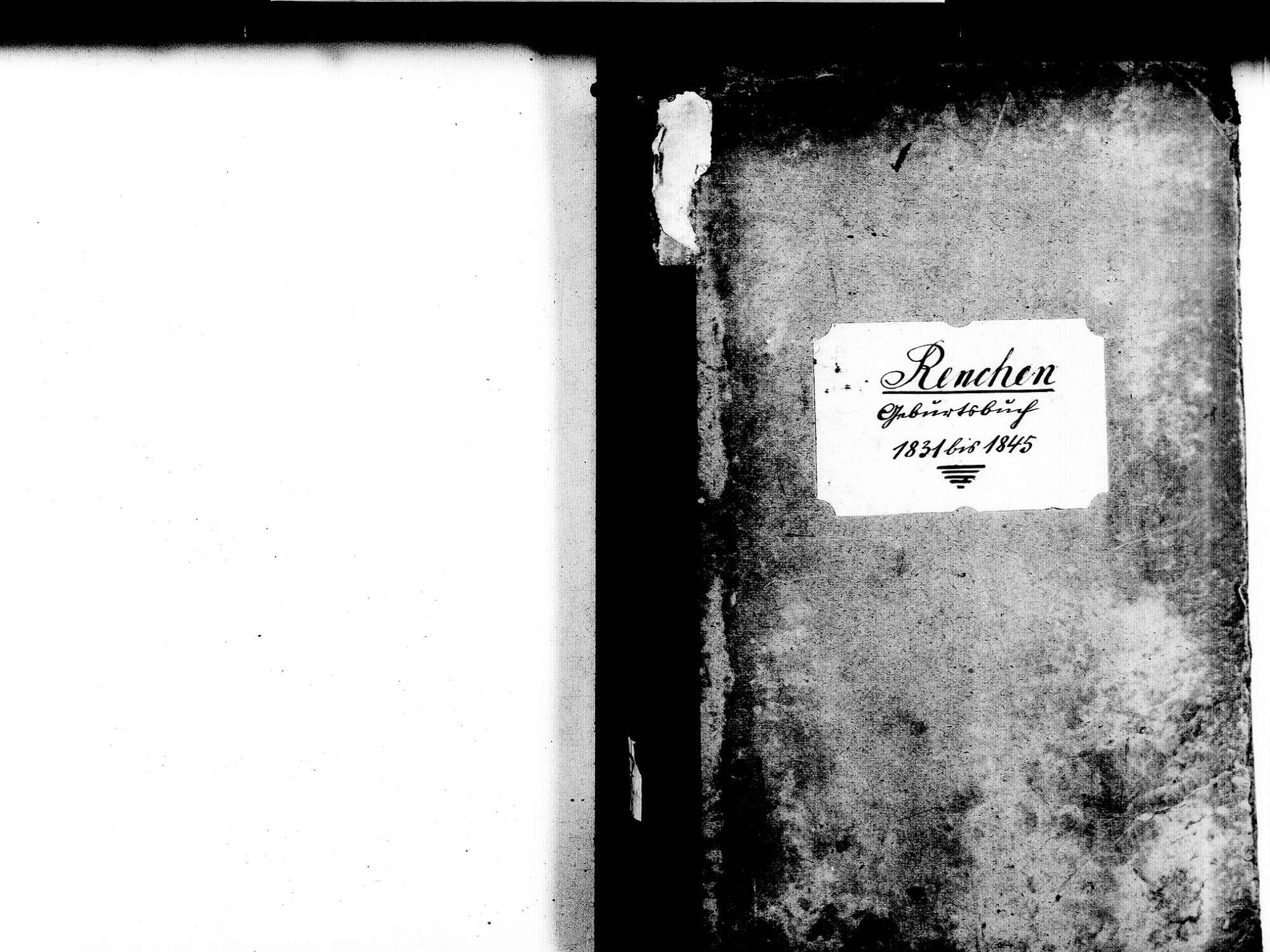 Renchen OG; Katholische Gemeinde: Geburtenbuch 1831-1845, Bild 2