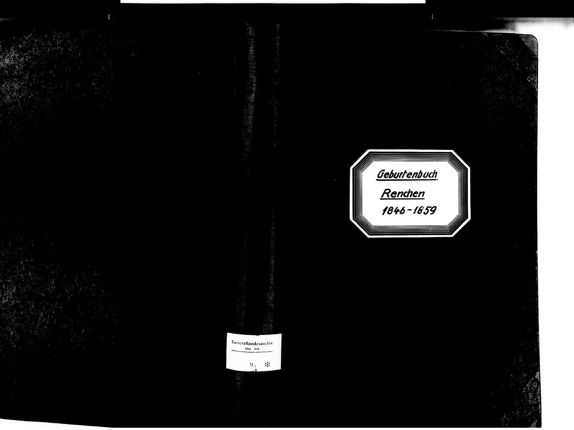 Renchen OG; Katholische Gemeinde: Geburtenbuch 1846-1859, Bild 1