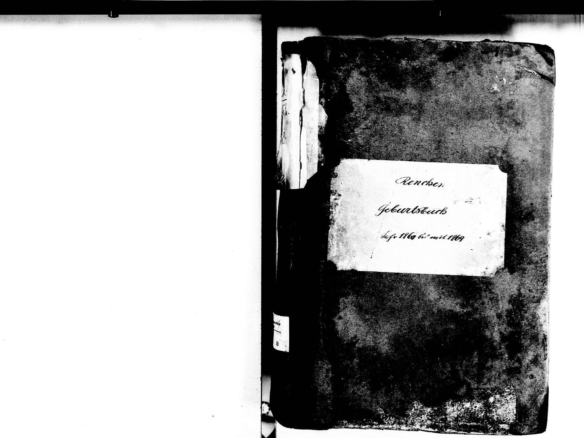 Renchen OG; Katholische Gemeinde: Geburtenbuch 1860-1869, Bild 2