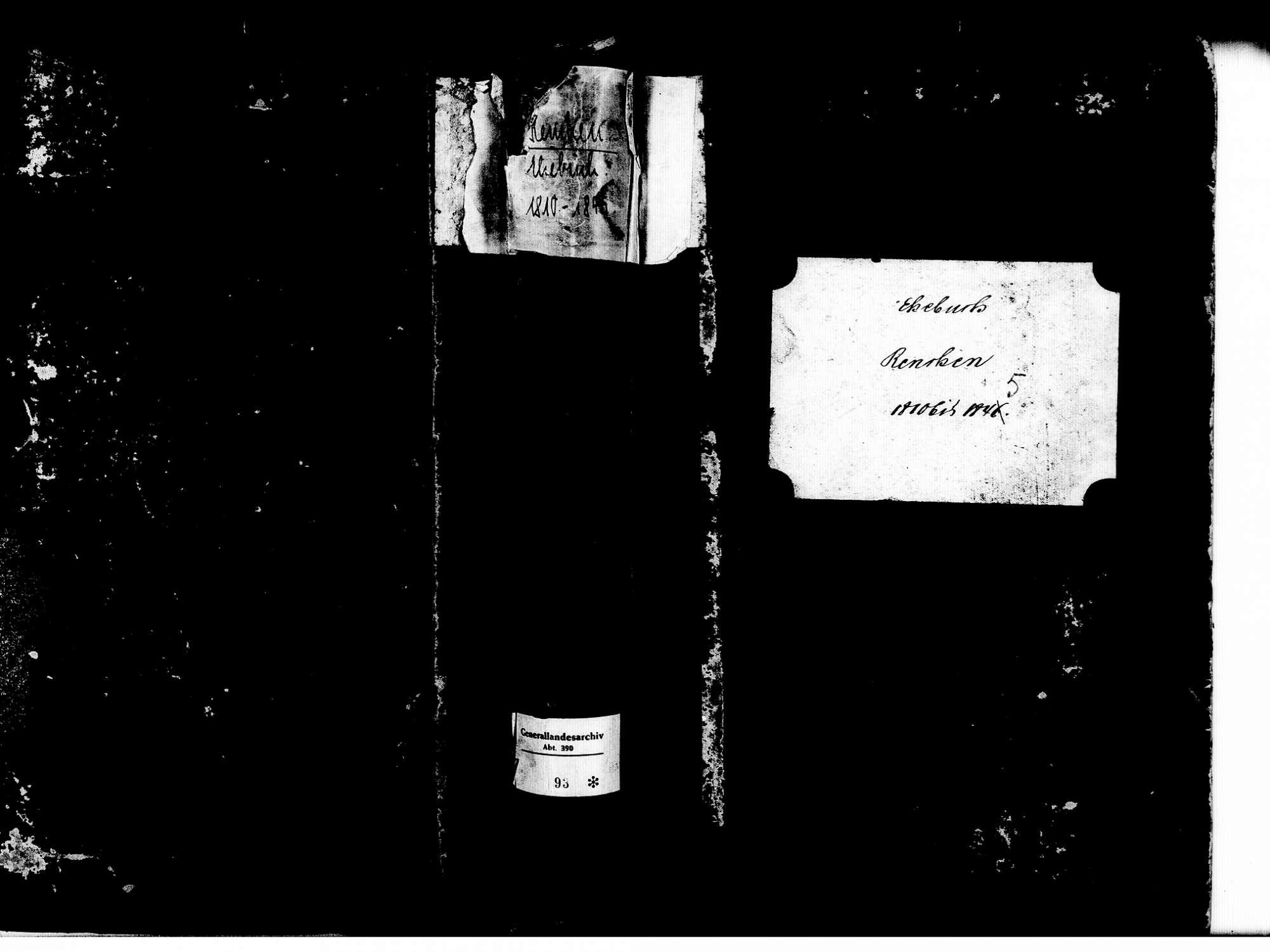 Renchen OG; Katholische Gemeinde: Heiratsbuch 1810-1845, Bild 1