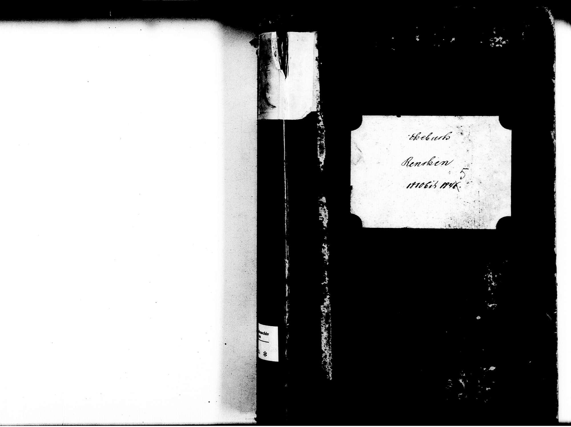 Renchen OG; Katholische Gemeinde: Heiratsbuch 1810-1845, Bild 2