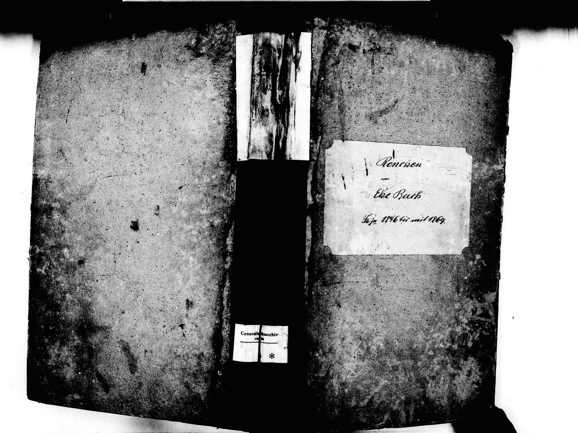 Renchen OG; Katholische Gemeinde: Heiratsbuch 1846-1869, Bild 1