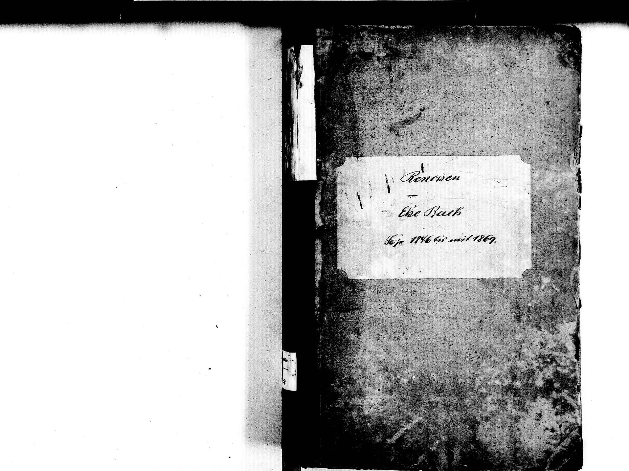Renchen OG; Katholische Gemeinde: Heiratsbuch 1846-1869, Bild 2