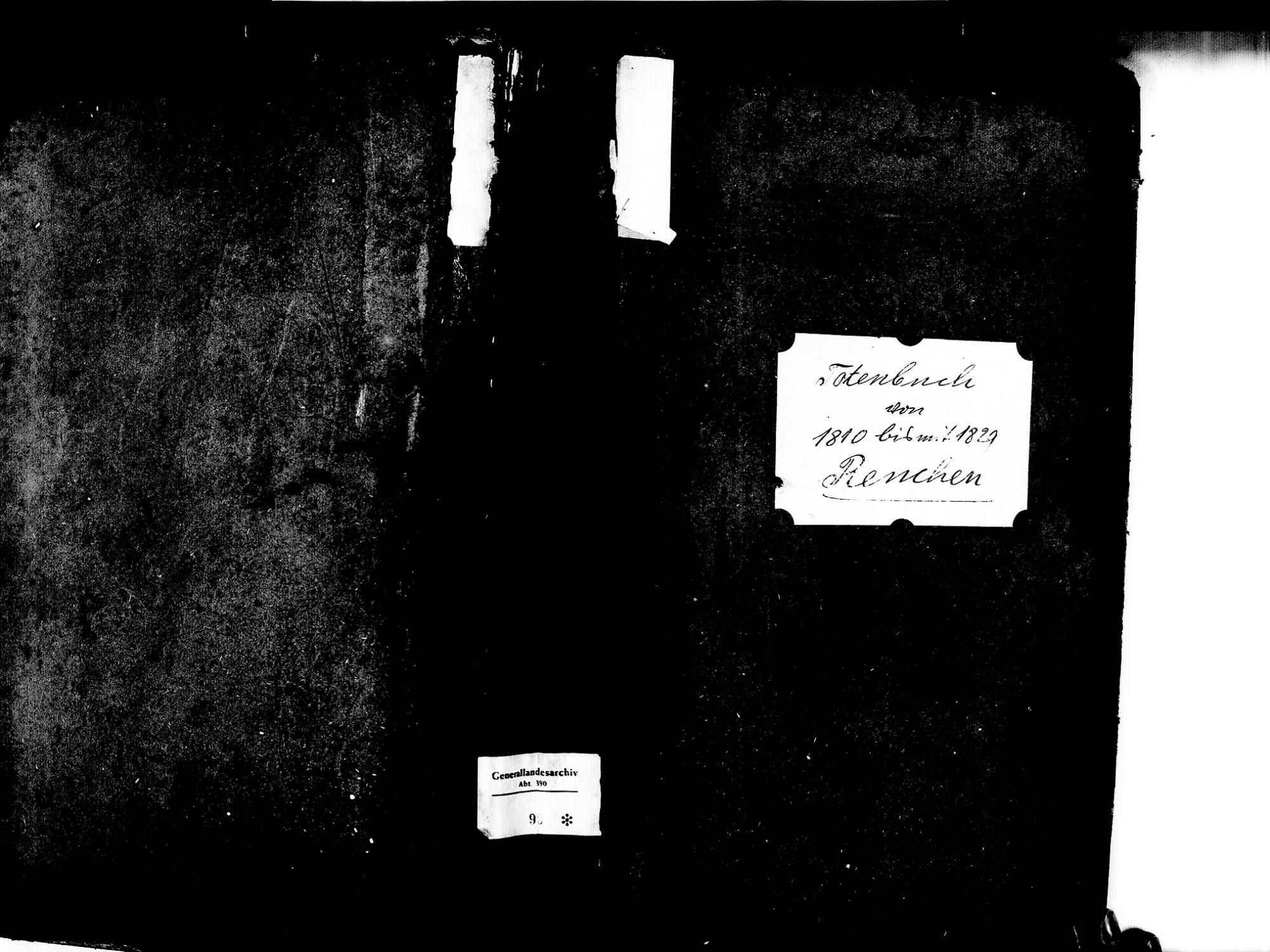 Renchen OG; Katholische Gemeinde: Sterbebuch 1810-1829, Bild 1