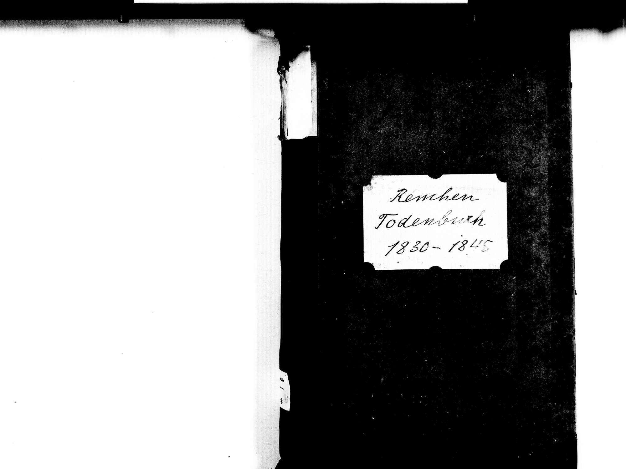 Renchen OG; Katholische Gemeinde: Sterbebuch 1830-1845, Bild 2