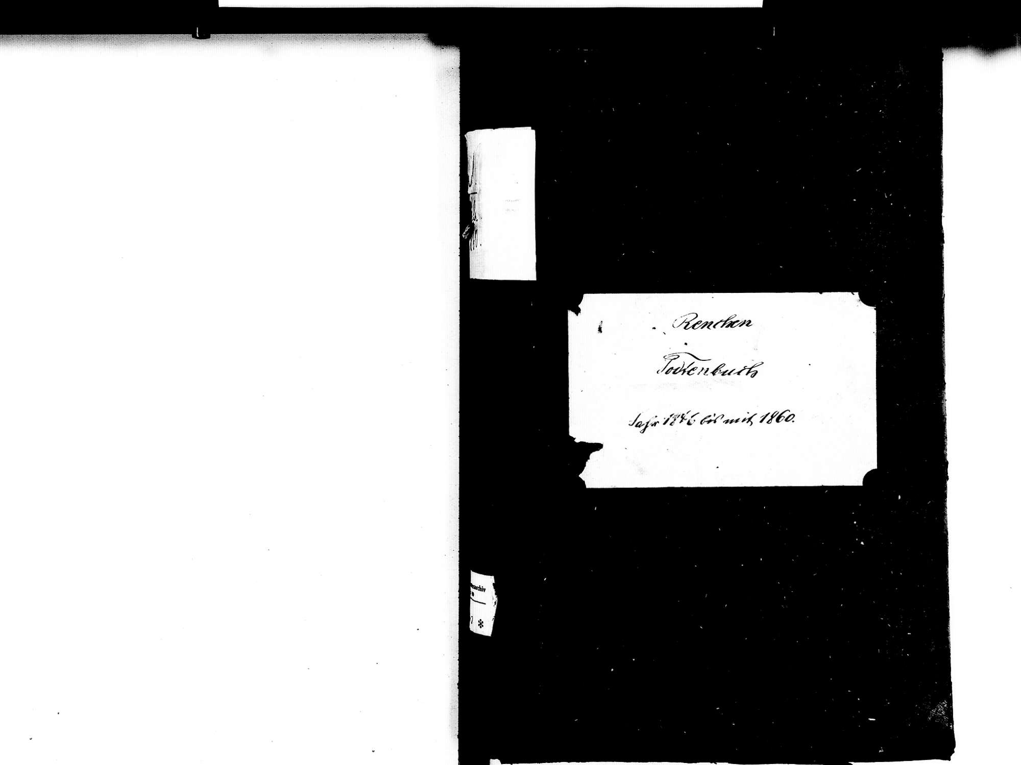 Renchen OG; Katholische Gemeinde: Sterbebuch 1846-1860, Bild 2