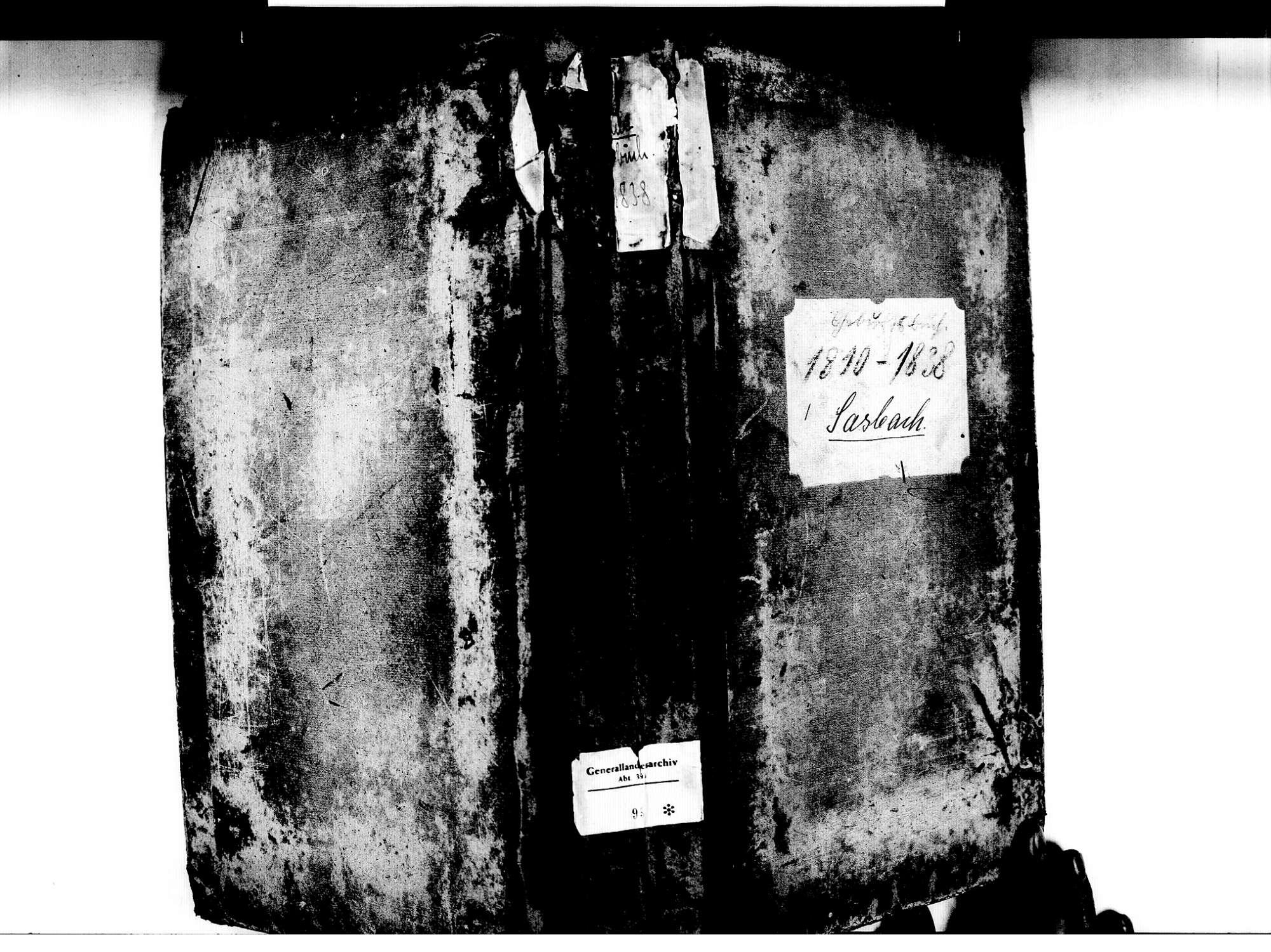 Sasbach OG; Katholische Gemeinde: Geburtenbuch 1810-1838, Bild 1