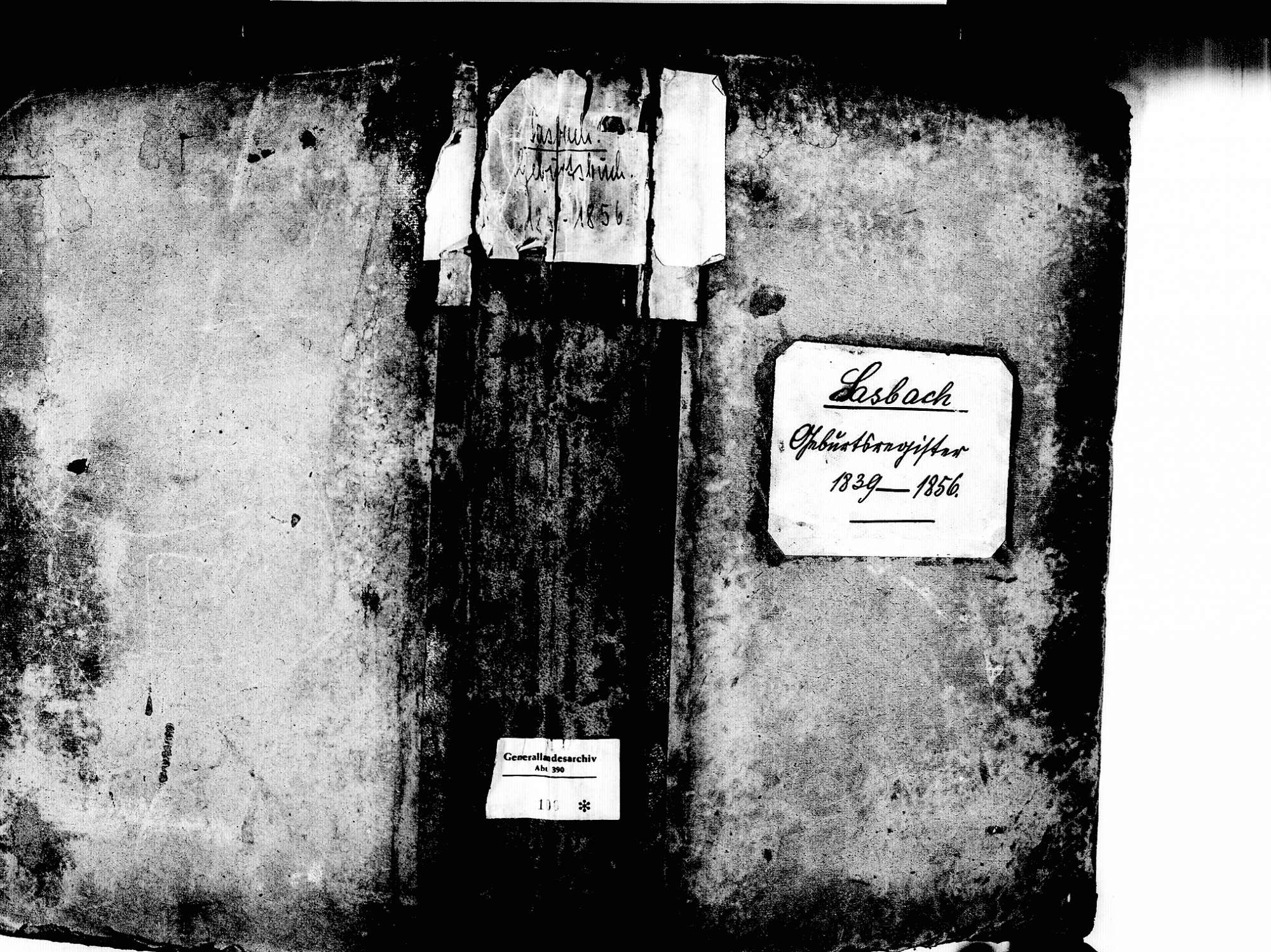 Sasbach OG; Katholische Gemeinde: Geburtenbuch 1839-1856, Bild 1