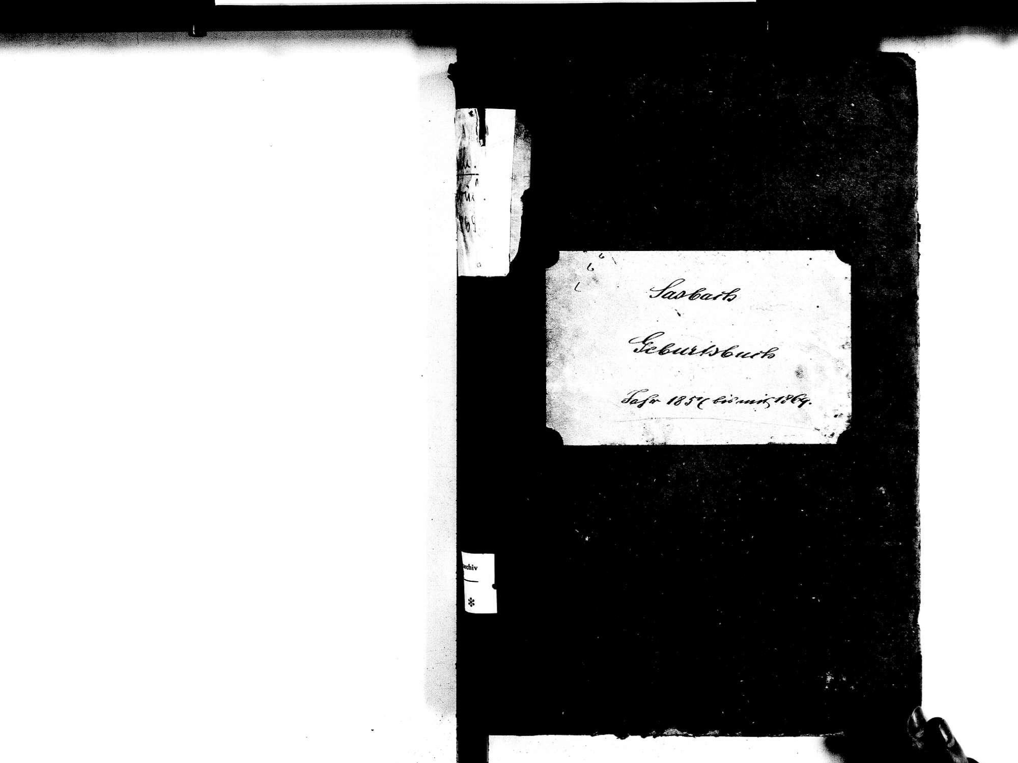 Sasbach OG; Katholische Gemeinde: Geburtenbuch 1857-1869, Bild 2