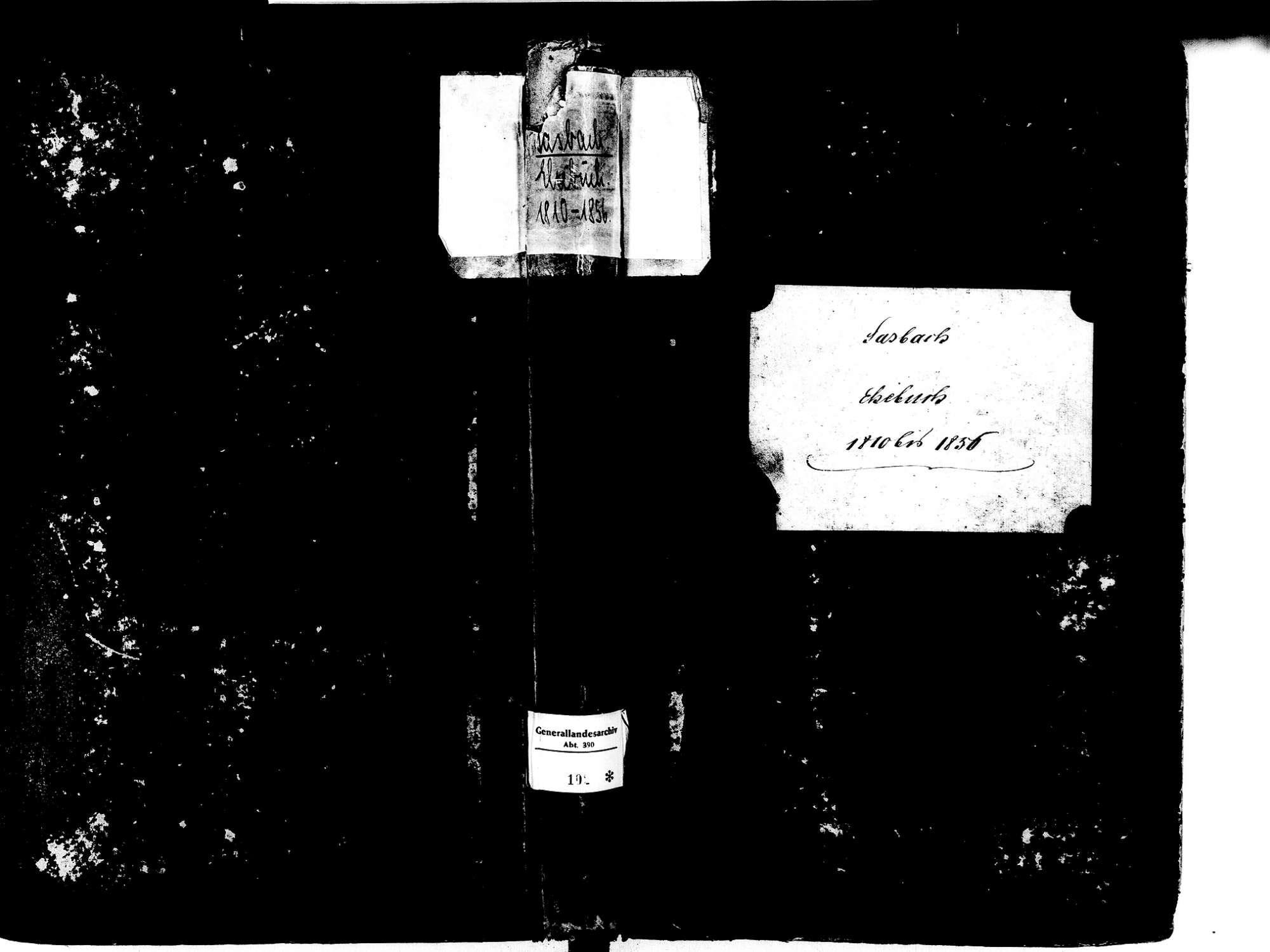 Sasbach OG; Katholische Gemeinde: Heiratsbuch 1810-1856, Bild 1