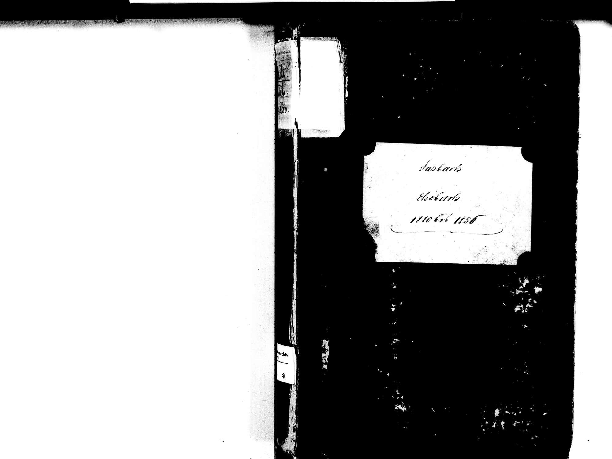 Sasbach OG; Katholische Gemeinde: Heiratsbuch 1810-1856, Bild 2