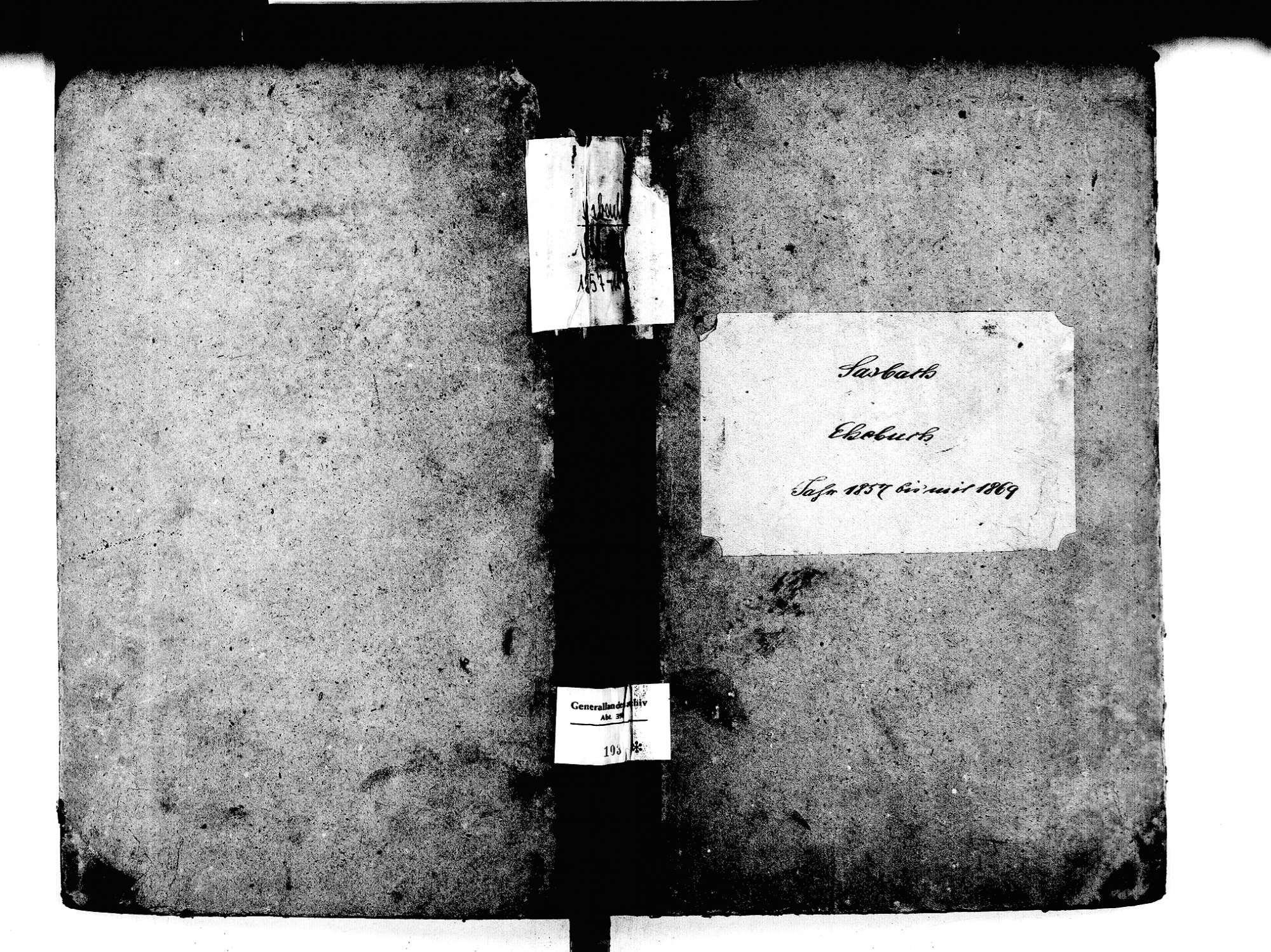 Sasbach OG; Katholische Gemeinde: Heiratsbuch 1857-1869, Bild 1