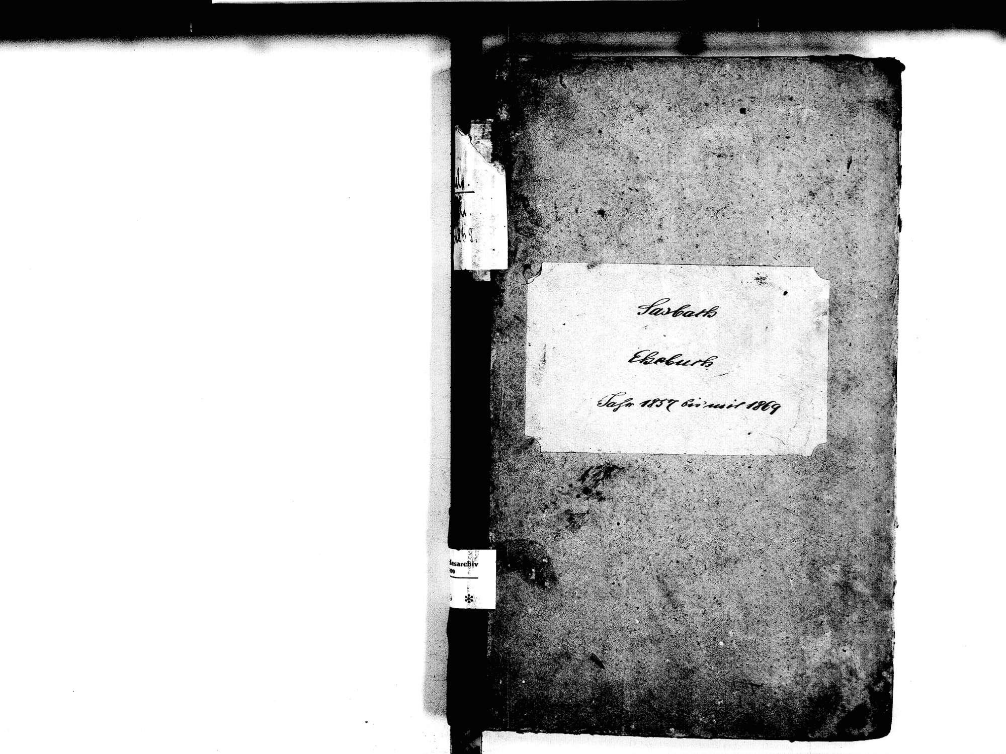Sasbach OG; Katholische Gemeinde: Heiratsbuch 1857-1869, Bild 2