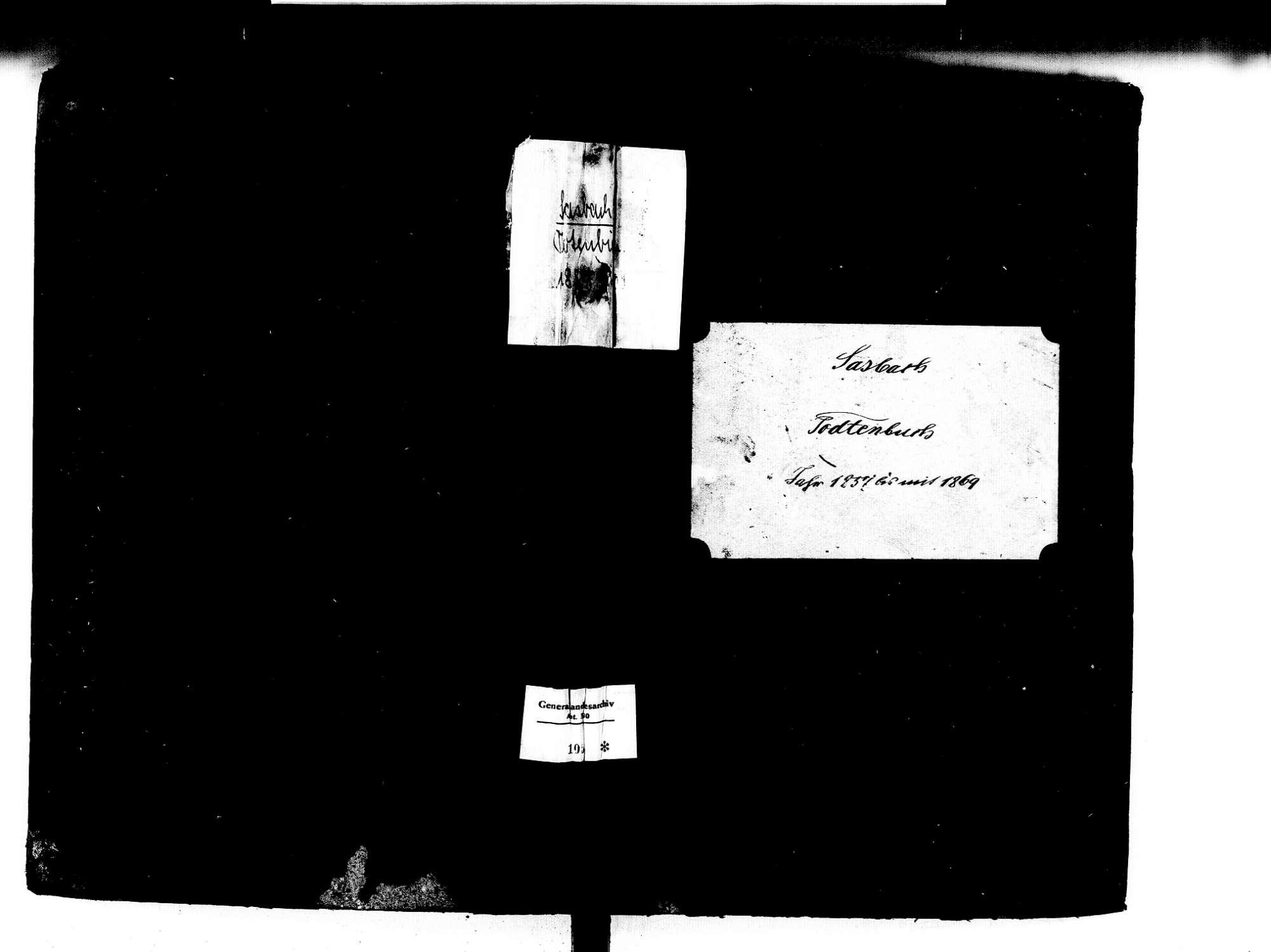 Sasbach OG; Katholische Gemeinde: Sterbebuch 1857-1869, Bild 1