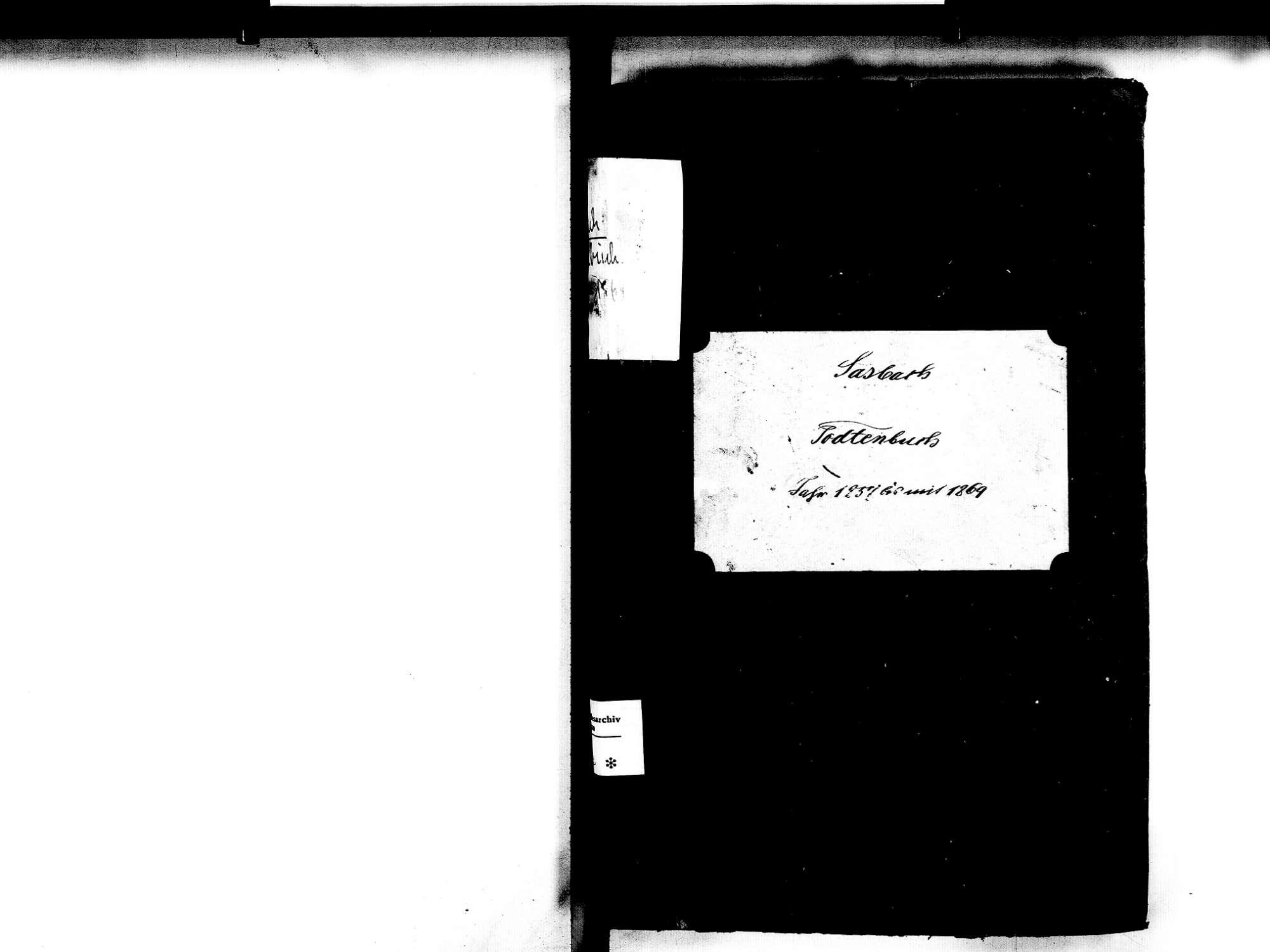 Sasbach OG; Katholische Gemeinde: Sterbebuch 1857-1869, Bild 2