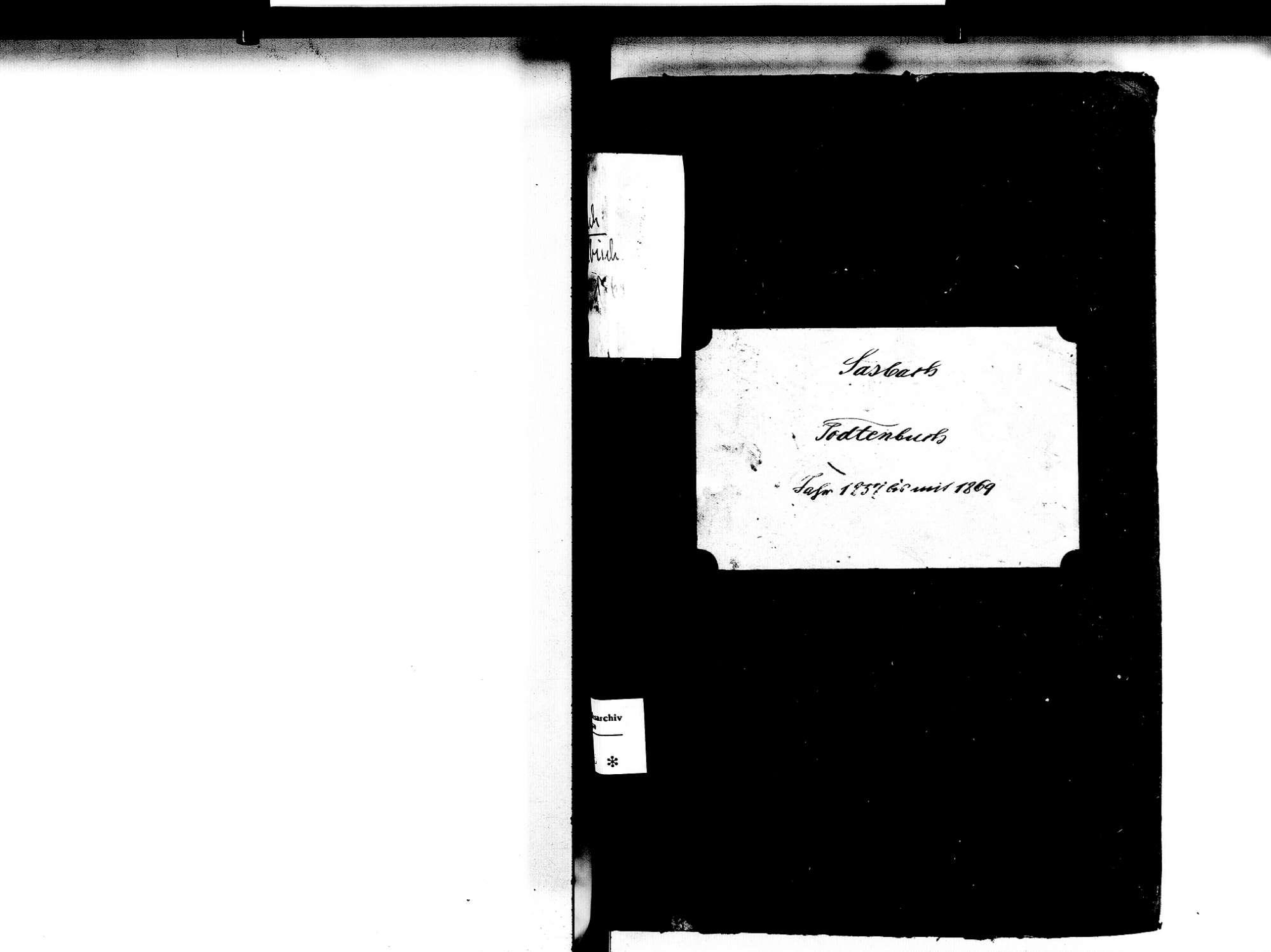Sasbach OG; Katholische Gemeinde: Sterbebuch 1857-1869, Bild 3