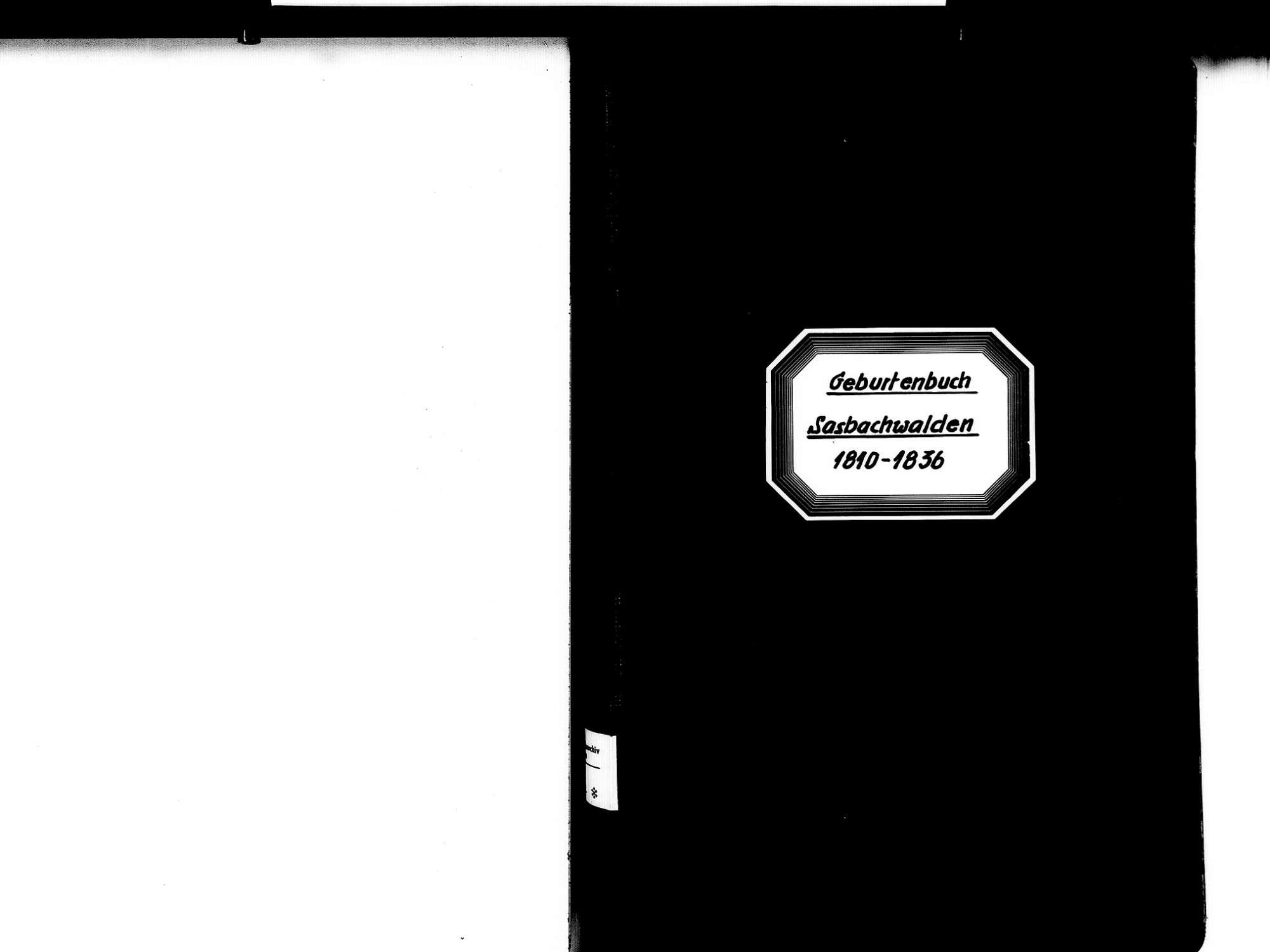 Sasbachwalden OG; Katholische Gemeinde: Geburtenbuch 1810-1836, Bild 2