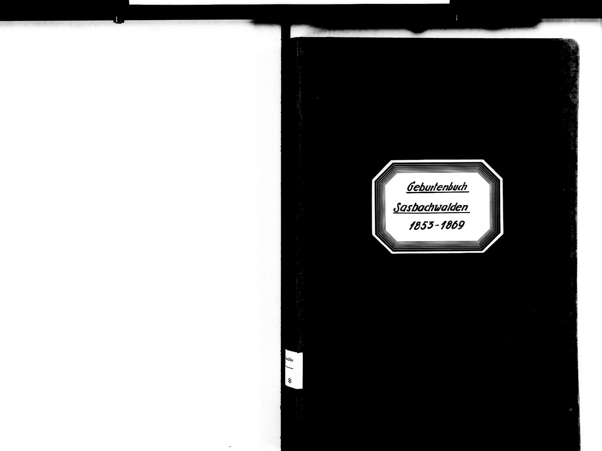 Sasbachwalden OG; Katholische Gemeinde: Geburtenbuch 1853-1869, Bild 2