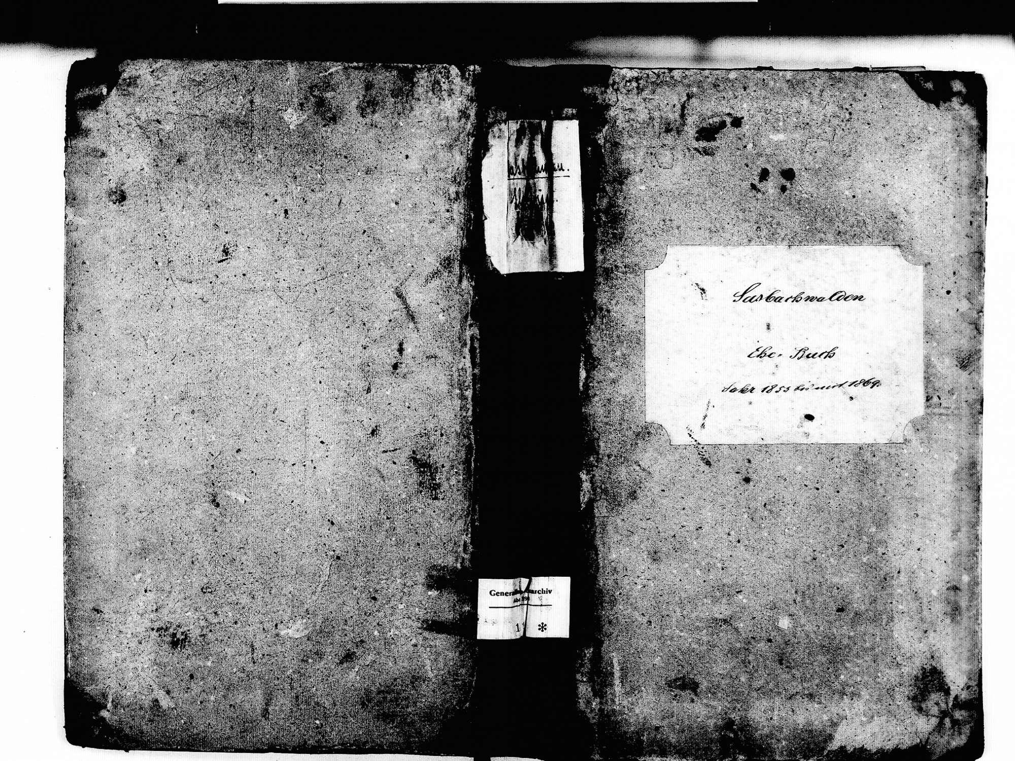 Sasbachwalden OG; Katholische Gemeinde: Heiratsbuch 1853-1869, Bild 1
