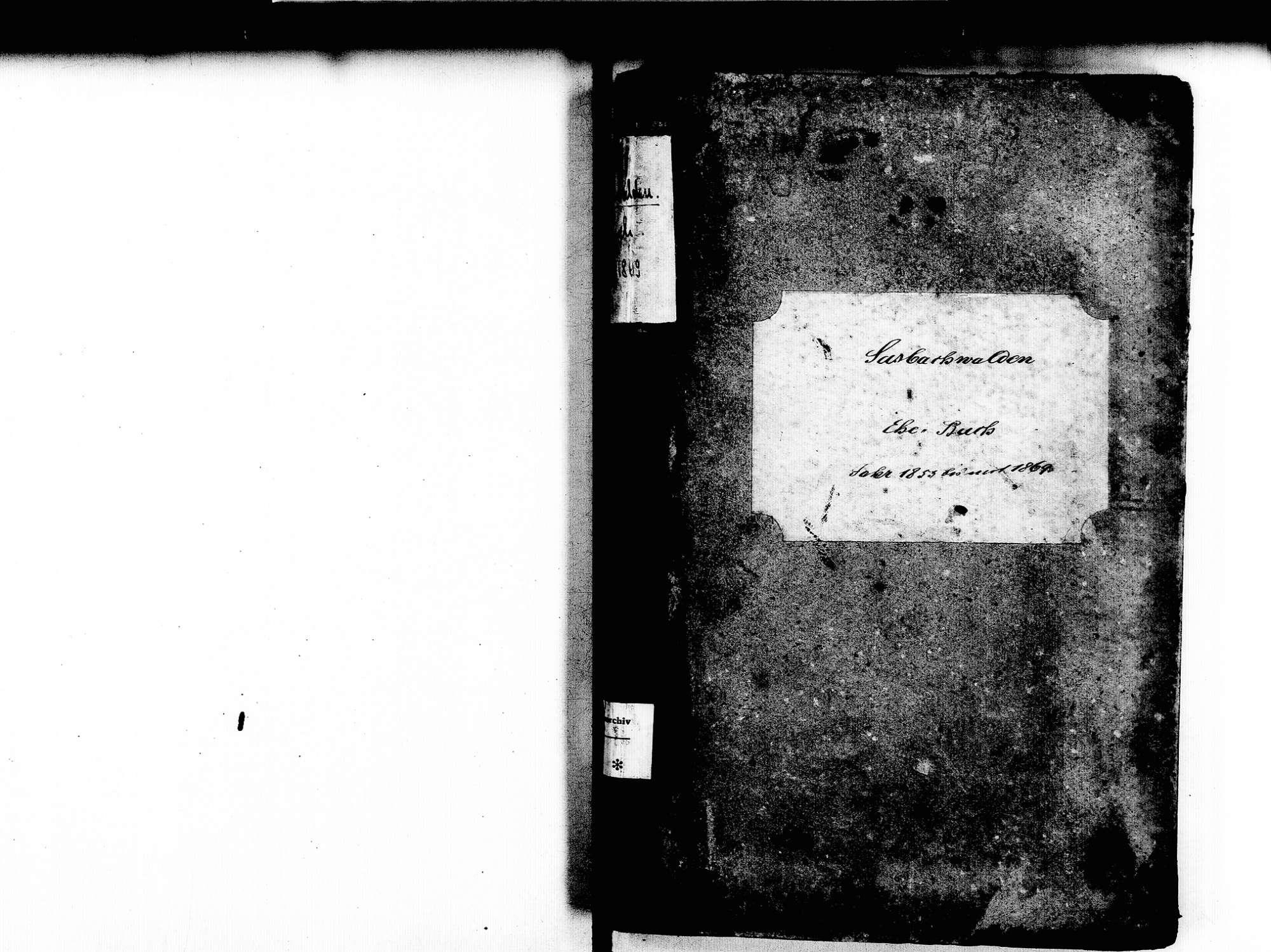 Sasbachwalden OG; Katholische Gemeinde: Heiratsbuch 1853-1869, Bild 2