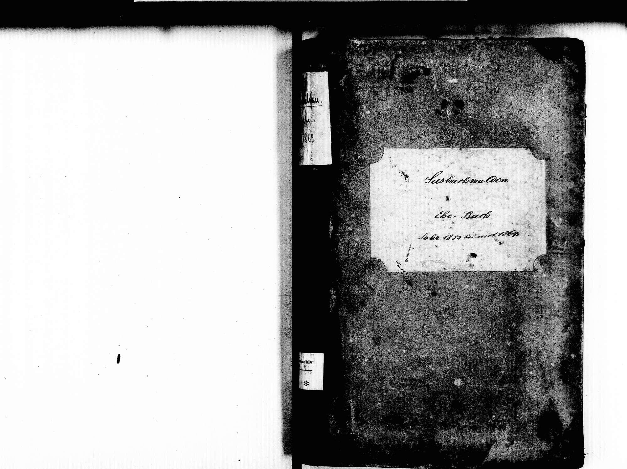 Sasbachwalden OG; Katholische Gemeinde: Heiratsbuch 1853-1869, Bild 3