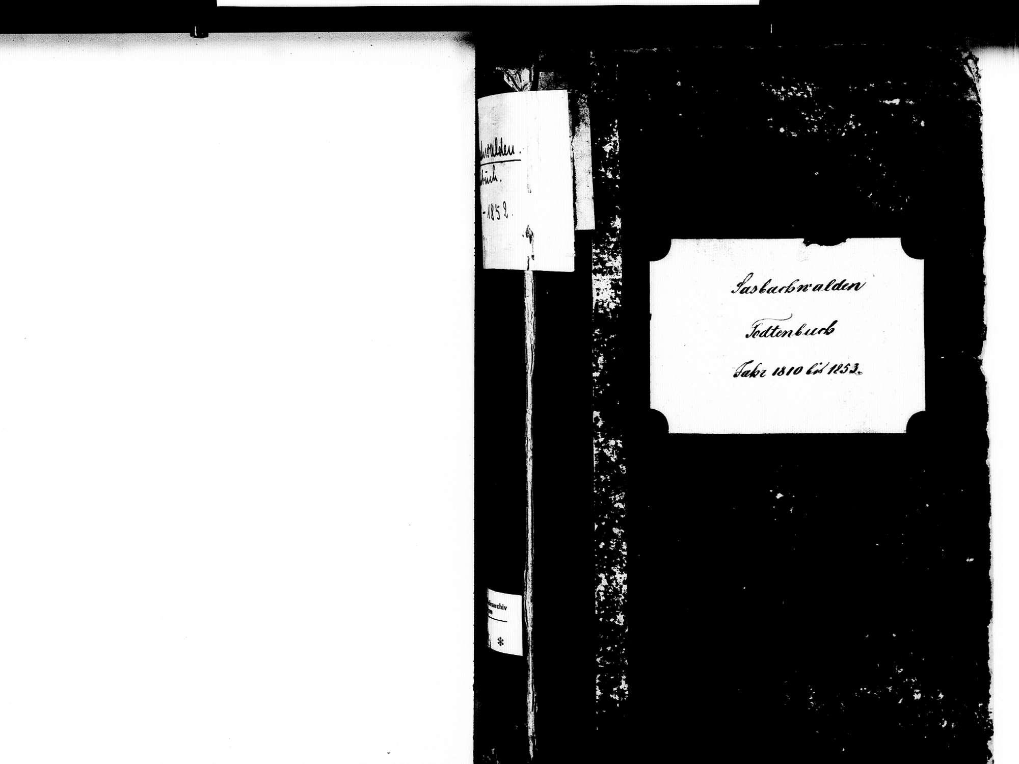 Sasbachwalden OG; Katholische Gemeinde: Sterbebuch 1810-1852, Bild 2