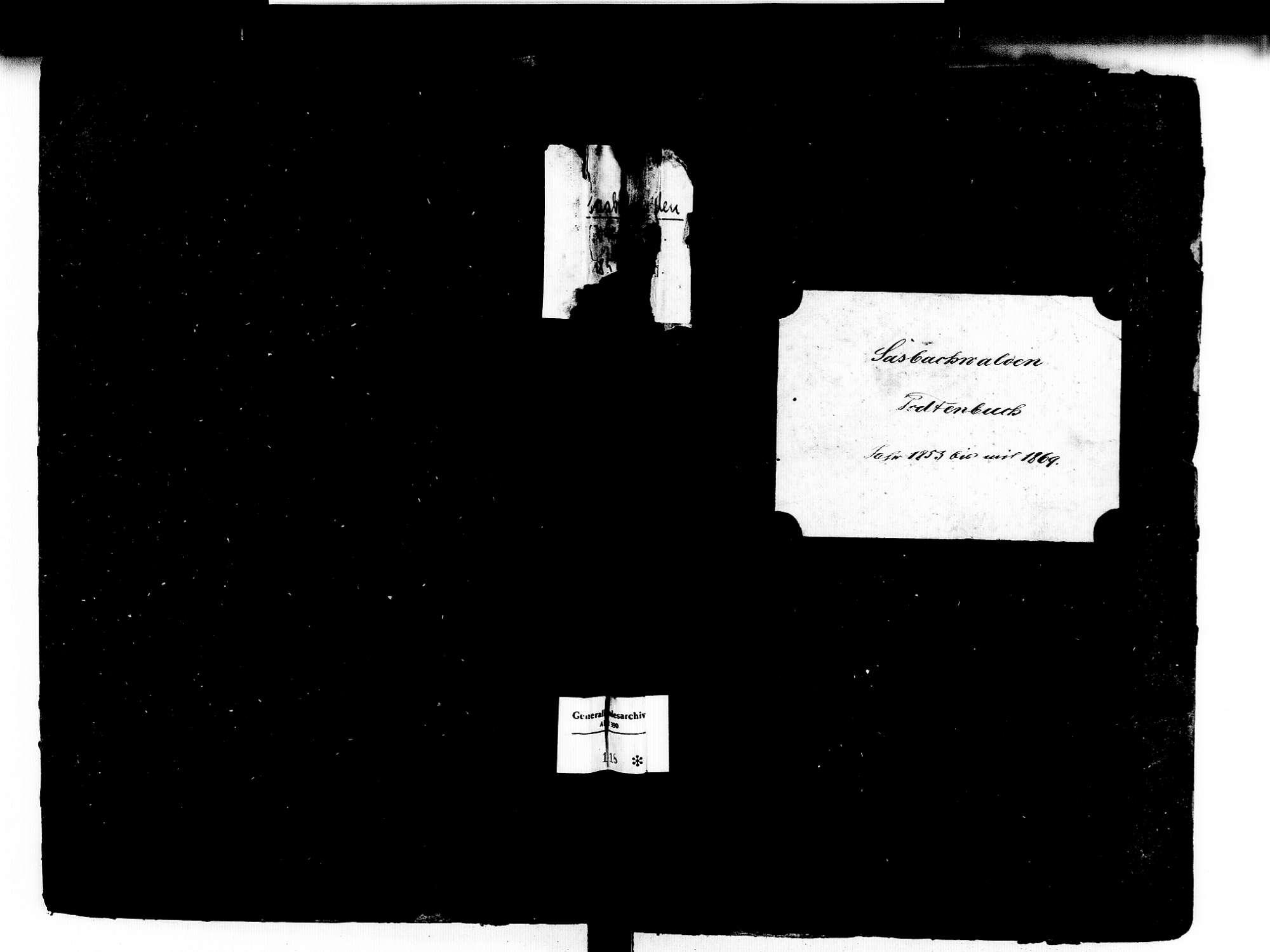 Sasbachwalden OG; Katholische Gemeinde: Sterbebuch 1853-1869, Bild 1
