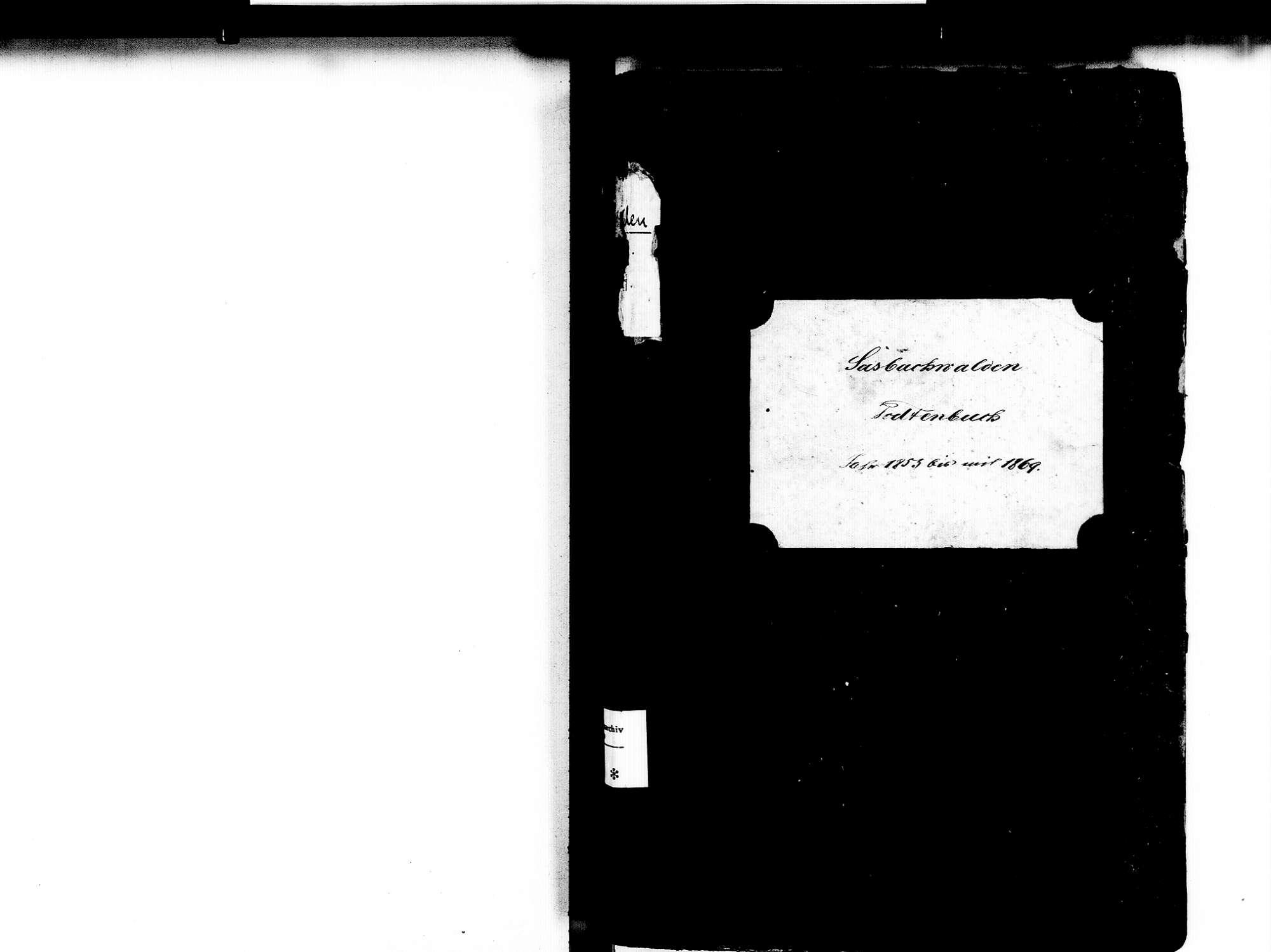Sasbachwalden OG; Katholische Gemeinde: Sterbebuch 1853-1869, Bild 2