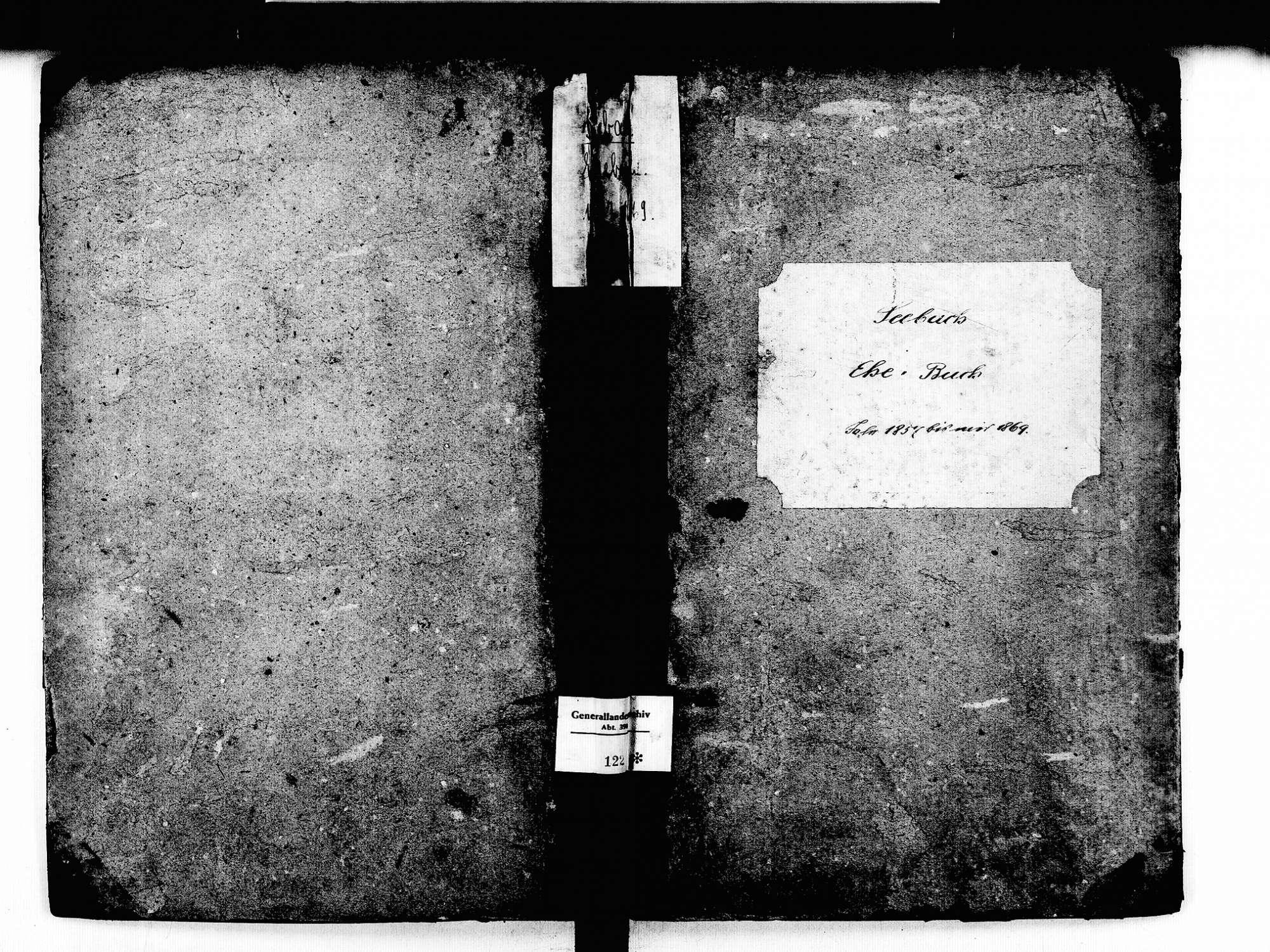 Seebach OG; Katholische Gemeinde: Heiratsbuch 1857-1869, Bild 2