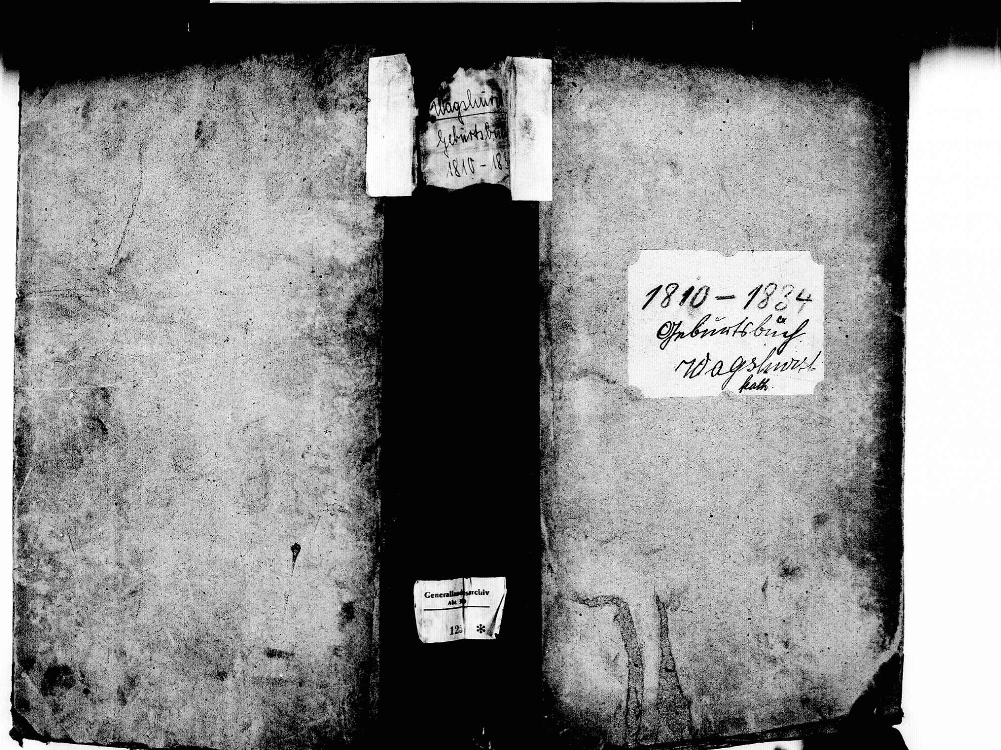 Wagshurst, Achern OG; Katholische Gemeinde: Geburtenbuch 1810-1834, Bild 1