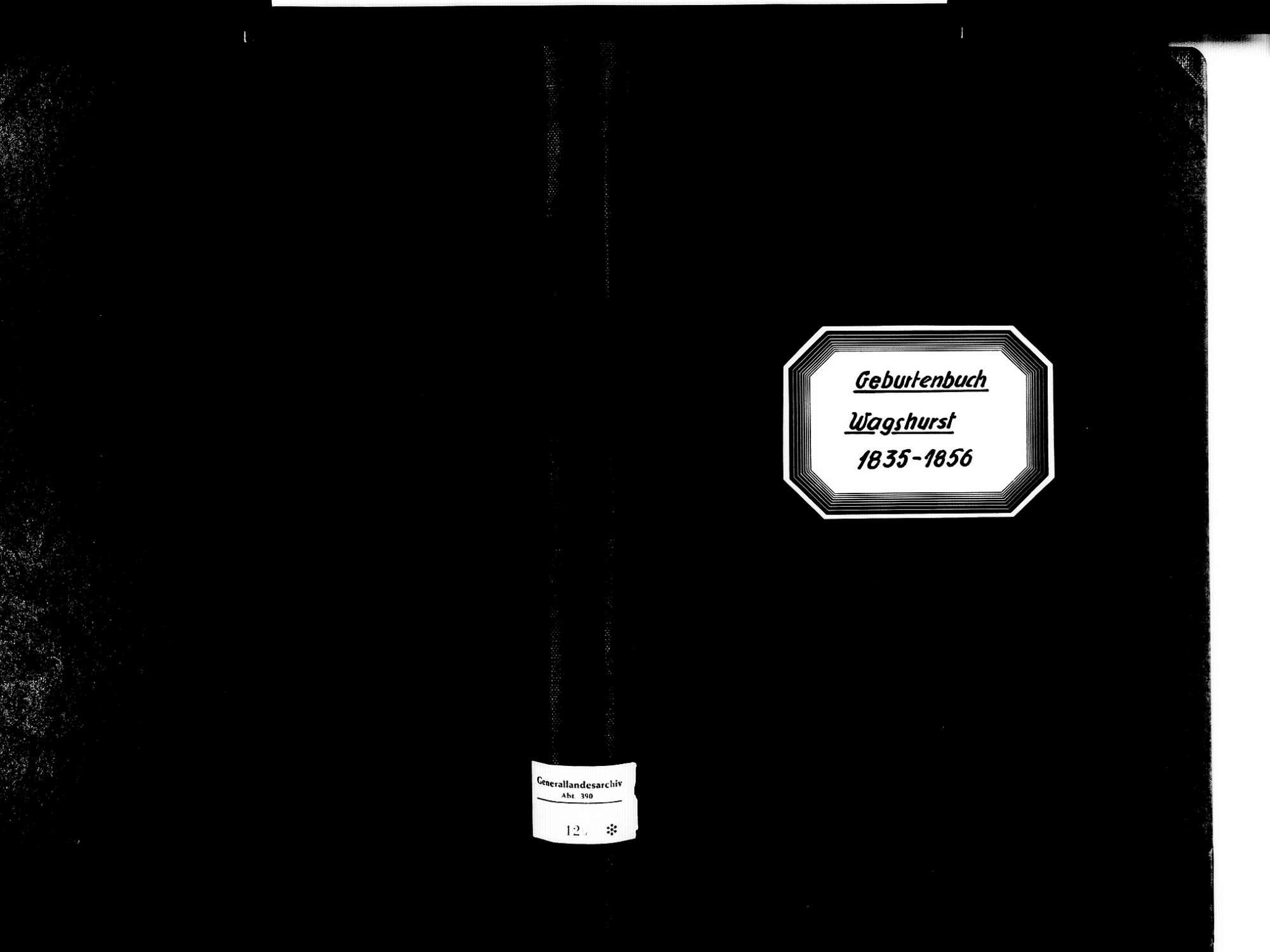 Wagshurst, Achern OG; Katholische Gemeinde: Geburtenbuch 1835-1856, Bild 1